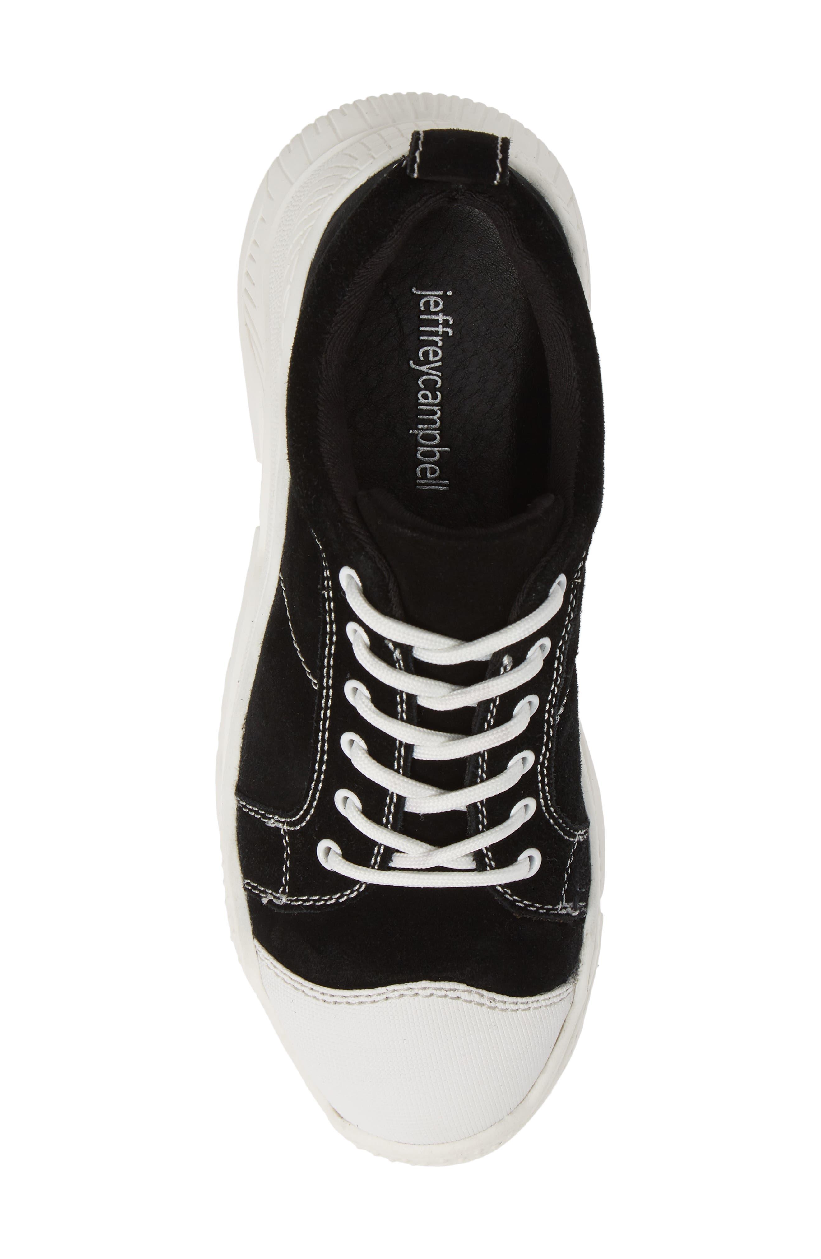 JEFFREY CAMPBELL,                             Remnant Sneaker,                             Alternate thumbnail 5, color,                             BLACK SUEDE WHITE