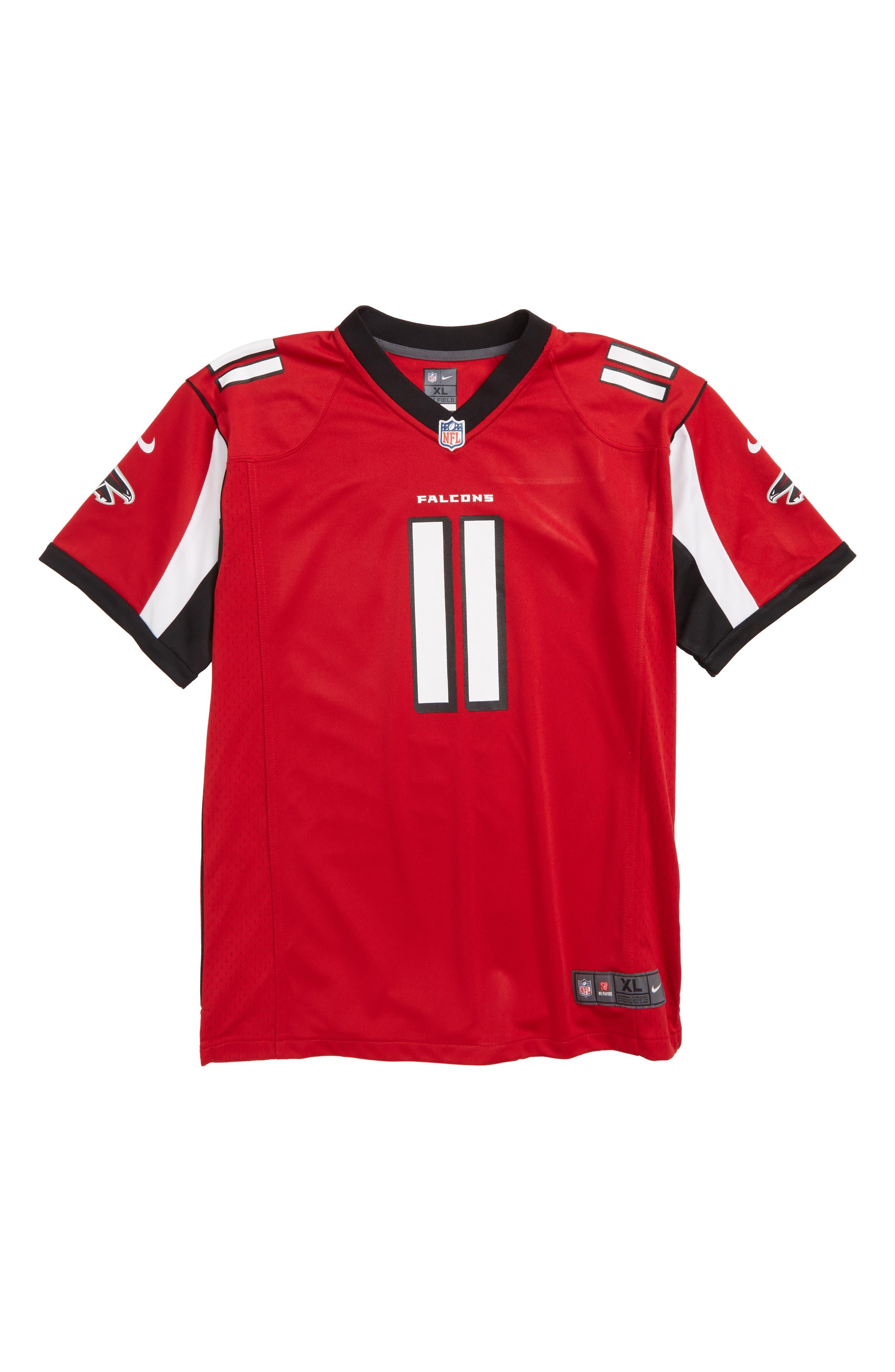 NFL Logo Atlanta Falcons Julio Jones Jersey,                         Main,                         color, RED