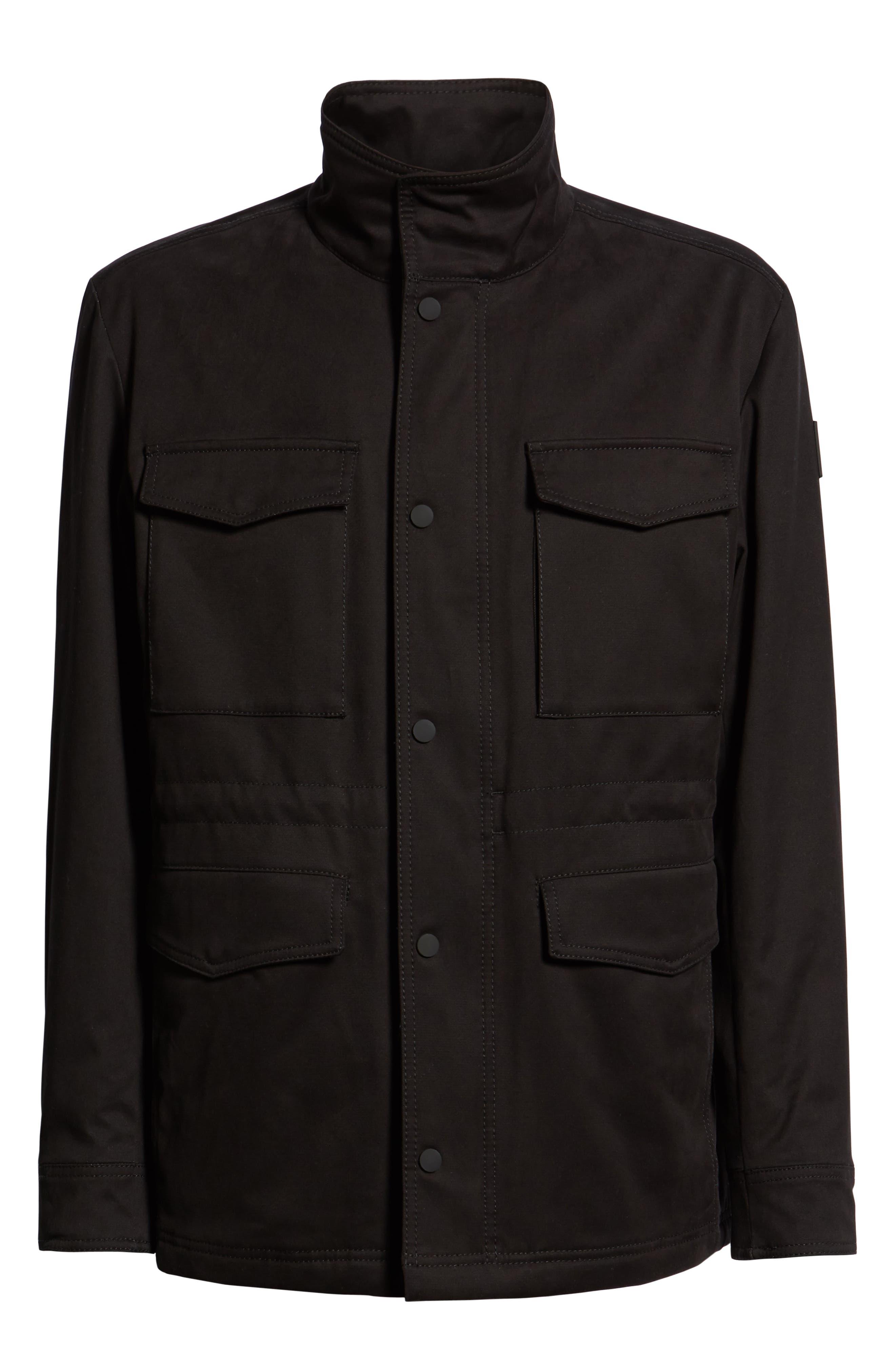 Oroy Regular Fit Field Jacket,                             Alternate thumbnail 5, color,                             BLACK