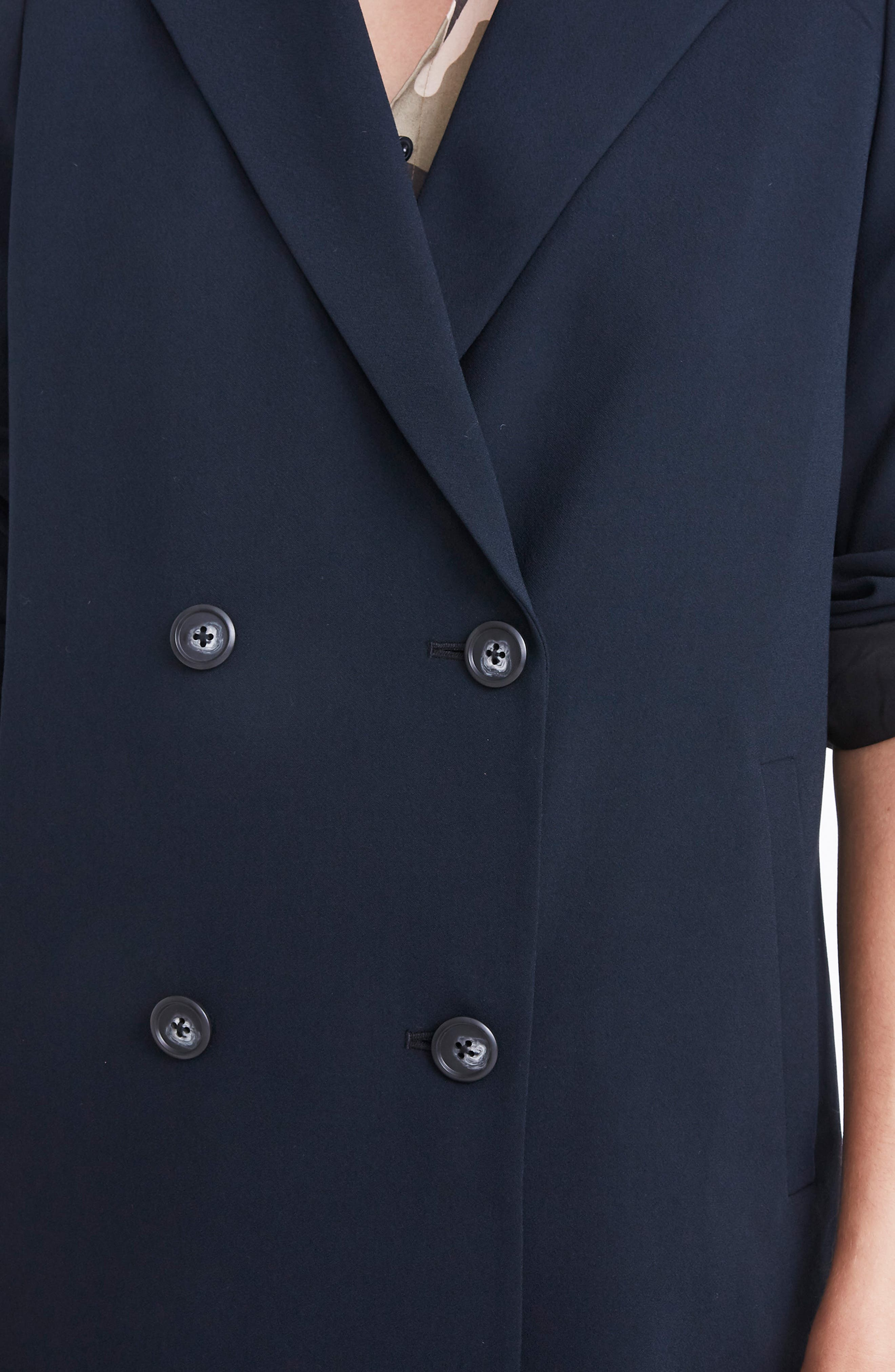 Caldwell Double Breasted Blazer,                             Alternate thumbnail 5, color,                             TRUE BLACK