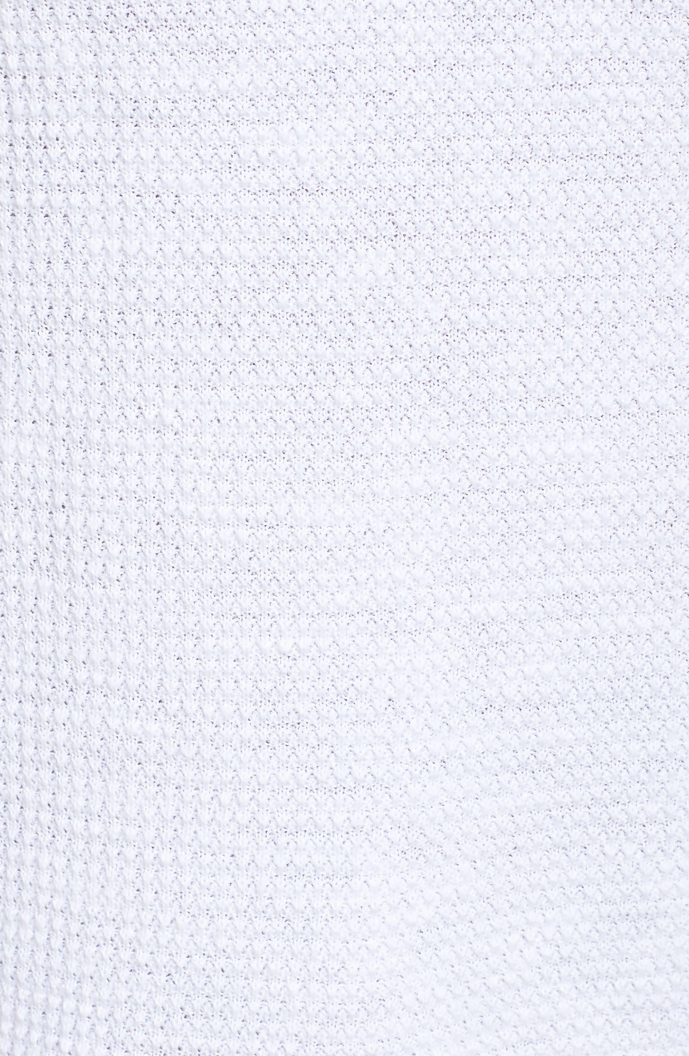 Drawstring Neck Organic Linen & Cotton Top,                             Alternate thumbnail 5, color,                             100