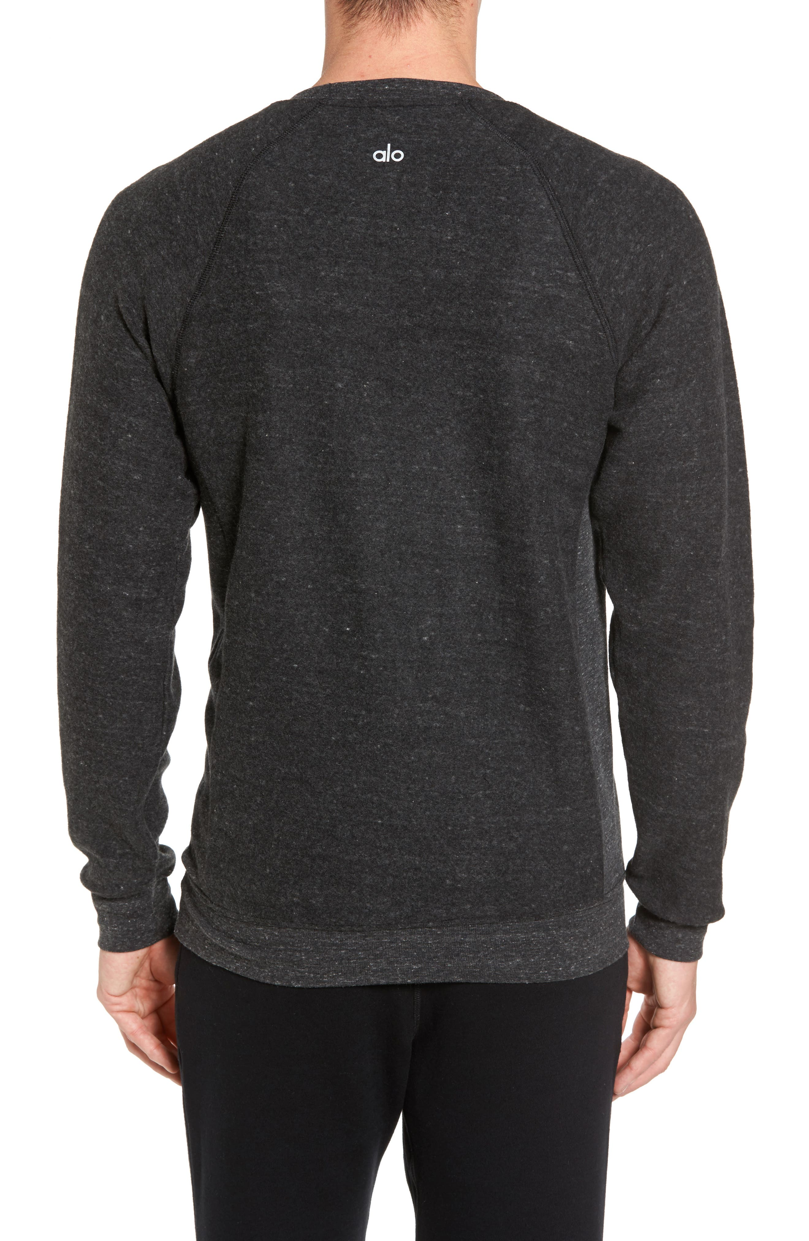 Relaxed Fit Felted Sweatshirt,                             Alternate thumbnail 2, color,                             CHARCOAL BLACK TRIBLEND