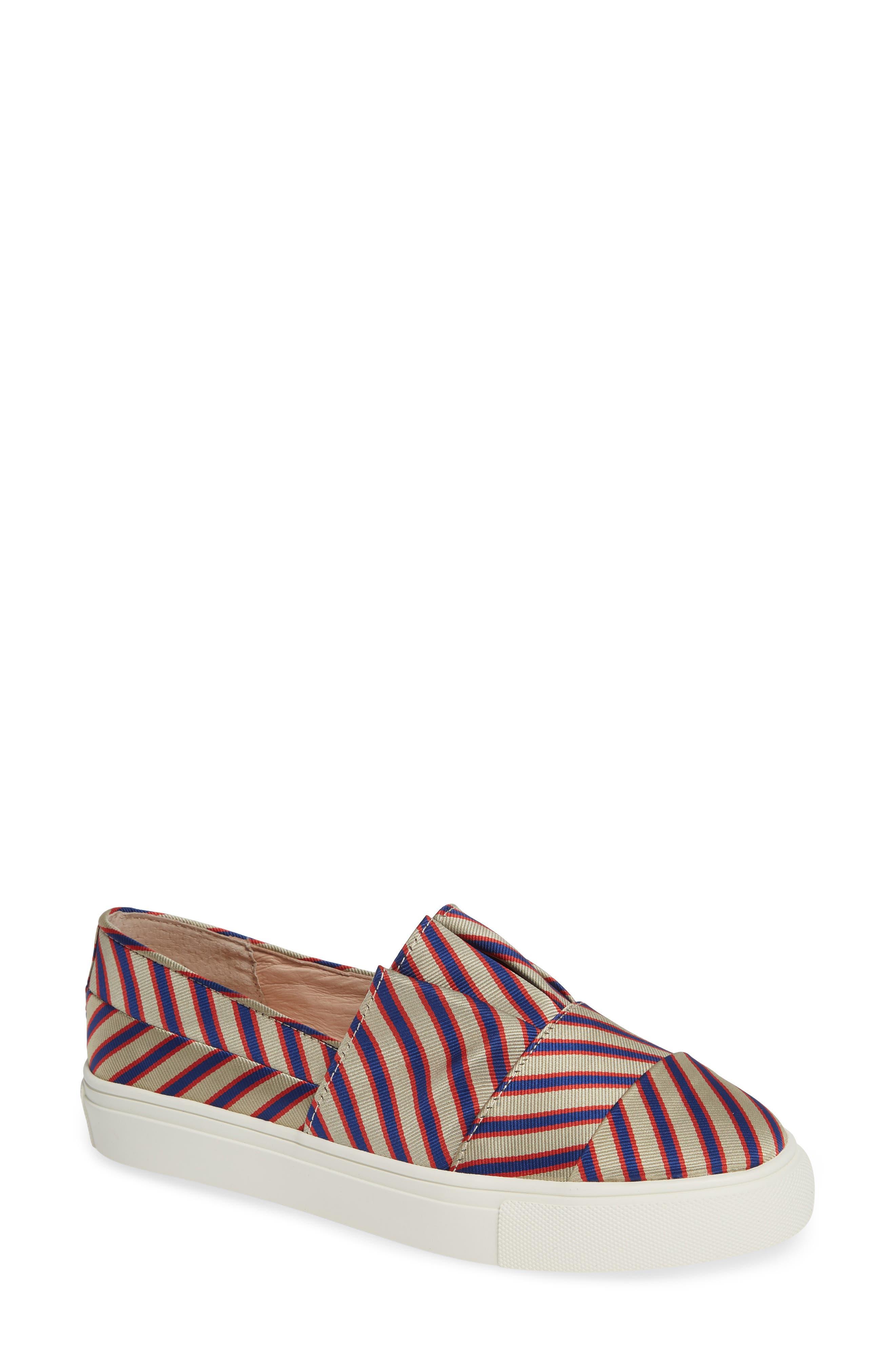 Rooney Slip-On Sneaker,                             Main thumbnail 1, color,                             RED/ WHITE/ BLUE FABRIC