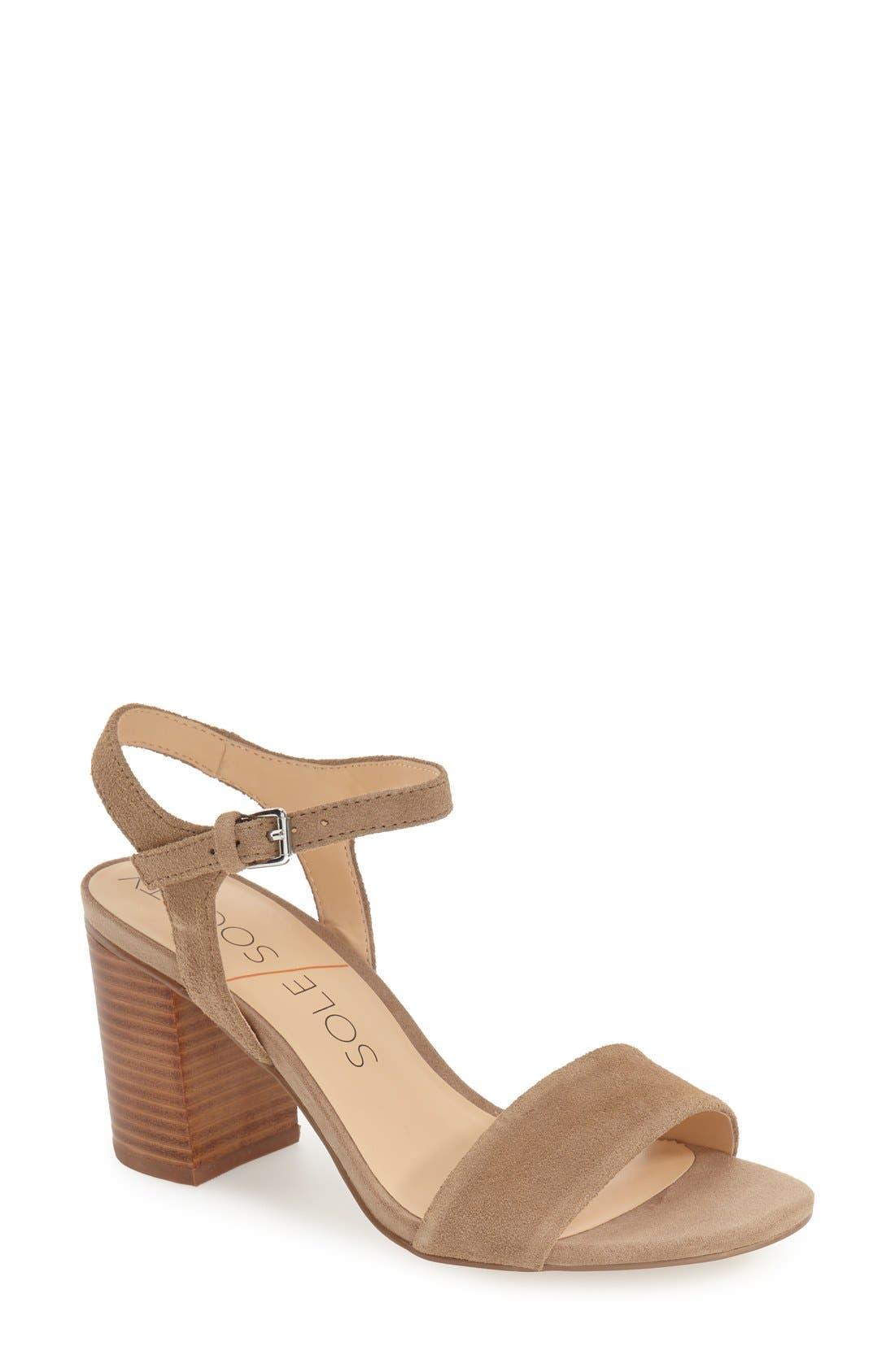 'Linny' Ankle Strap Sandal,                             Main thumbnail 3, color,