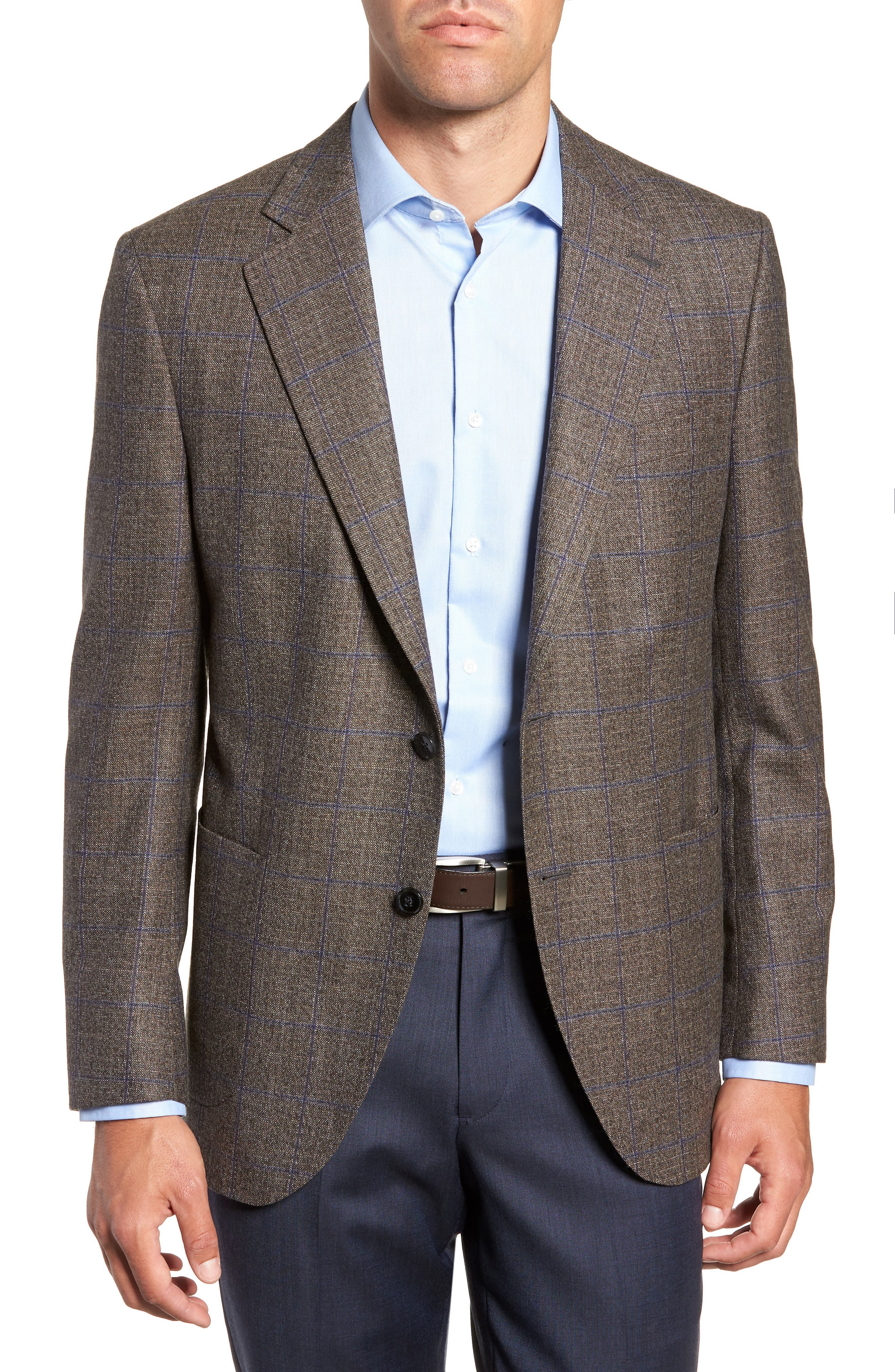 Hyperlight Classic Fit Wool Sport Coat,                             Main thumbnail 1, color,                             BROWN