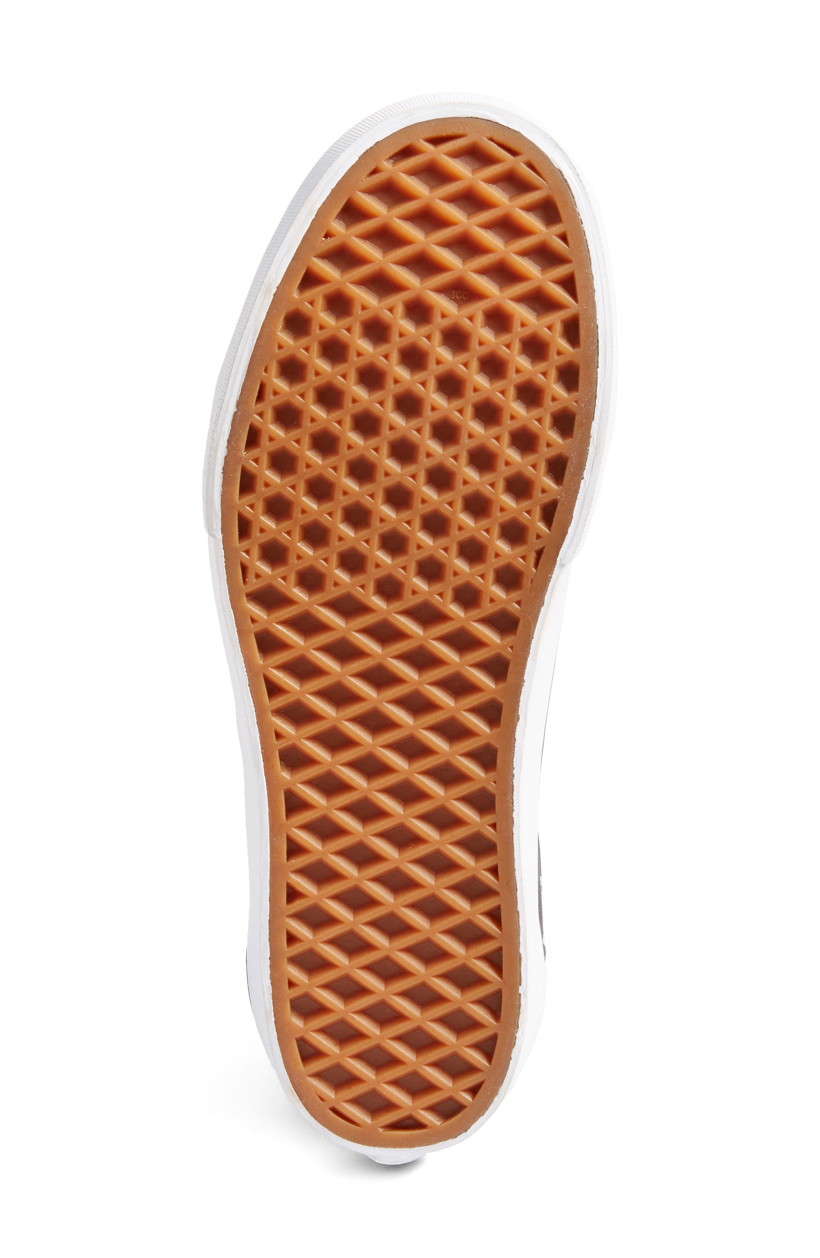 VANS,                             x KARL LAGERFELD Old Skool Leather Platform Sneaker,                             Alternate thumbnail 6, color,                             001