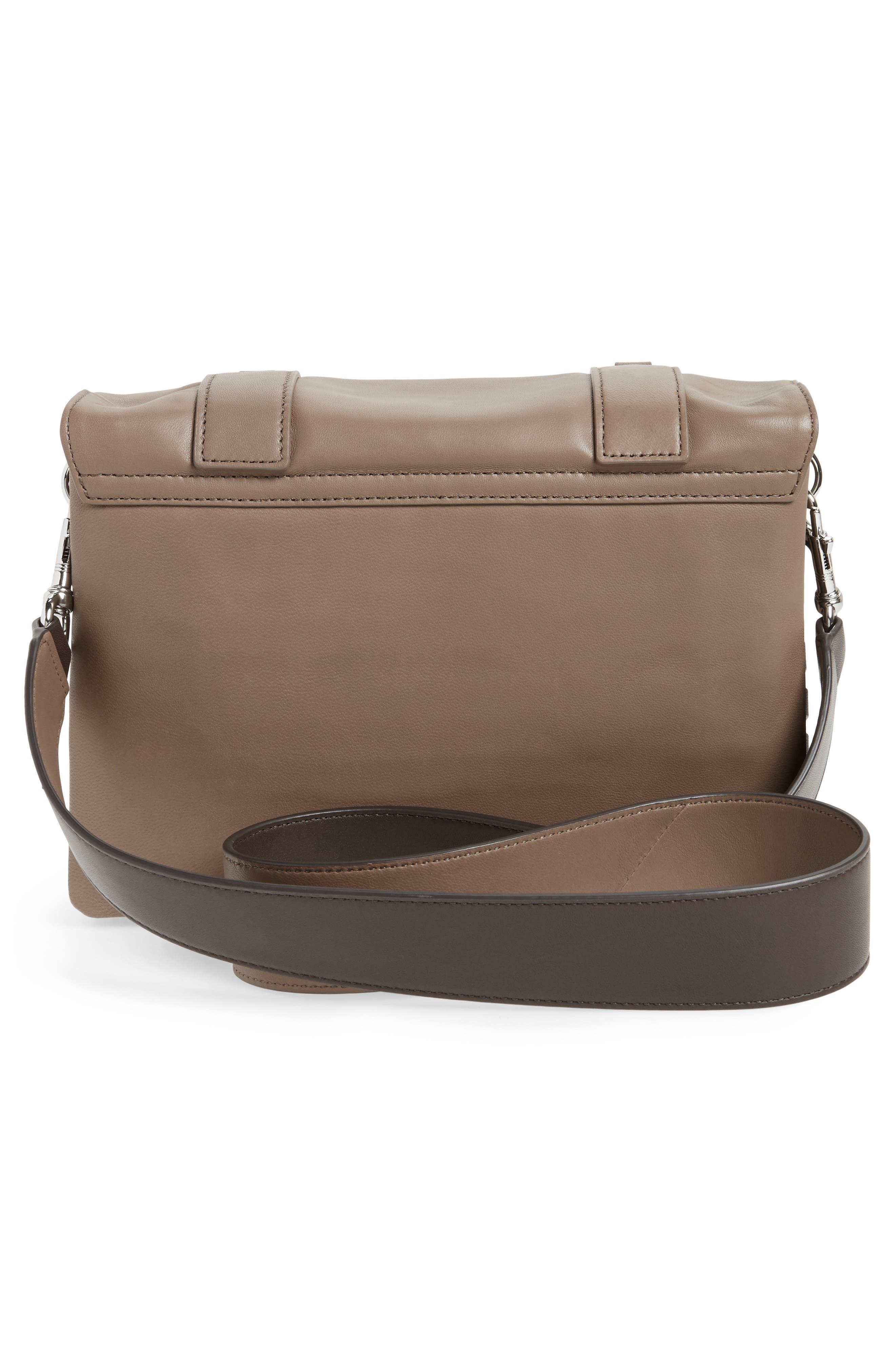 Fin Lambskin Leather Messenger Bag,                             Alternate thumbnail 5, color,