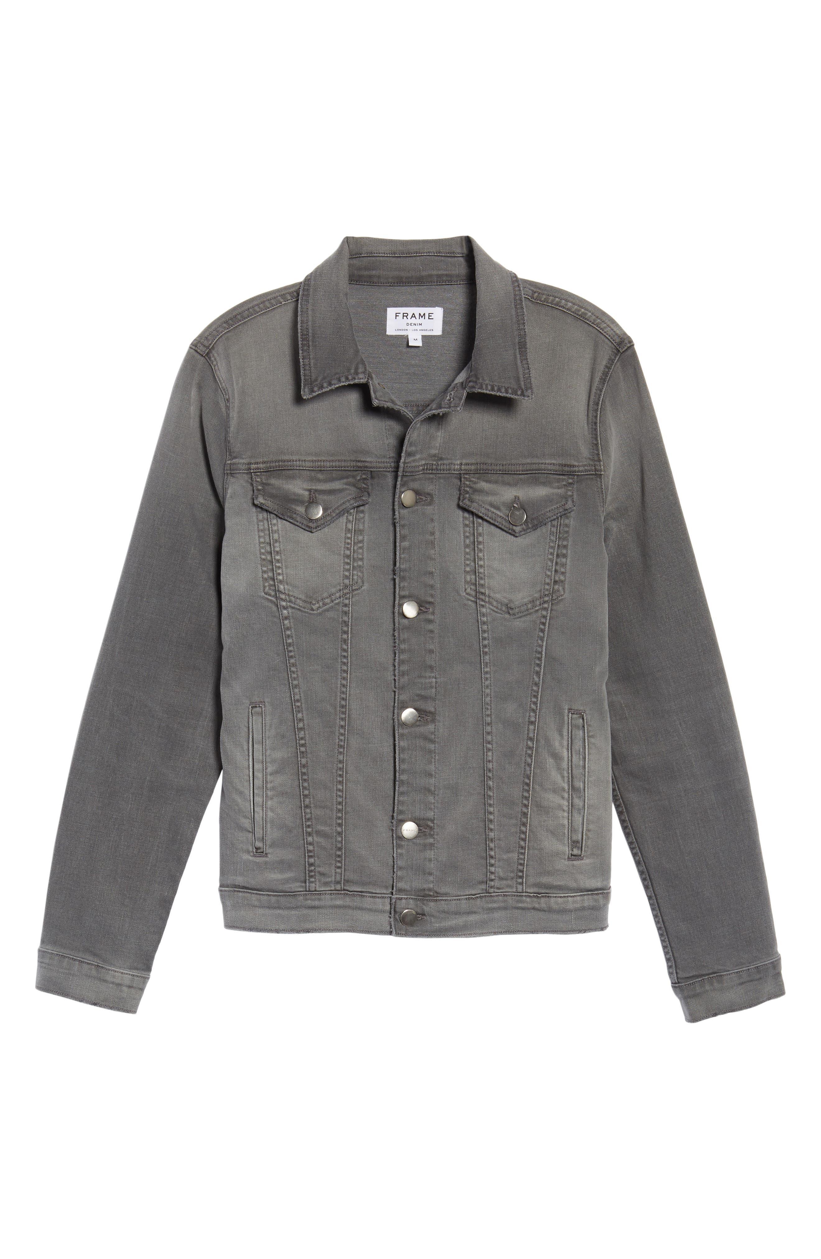 L'Homme Denim Jacket,                             Alternate thumbnail 5, color,                             GRAYSON