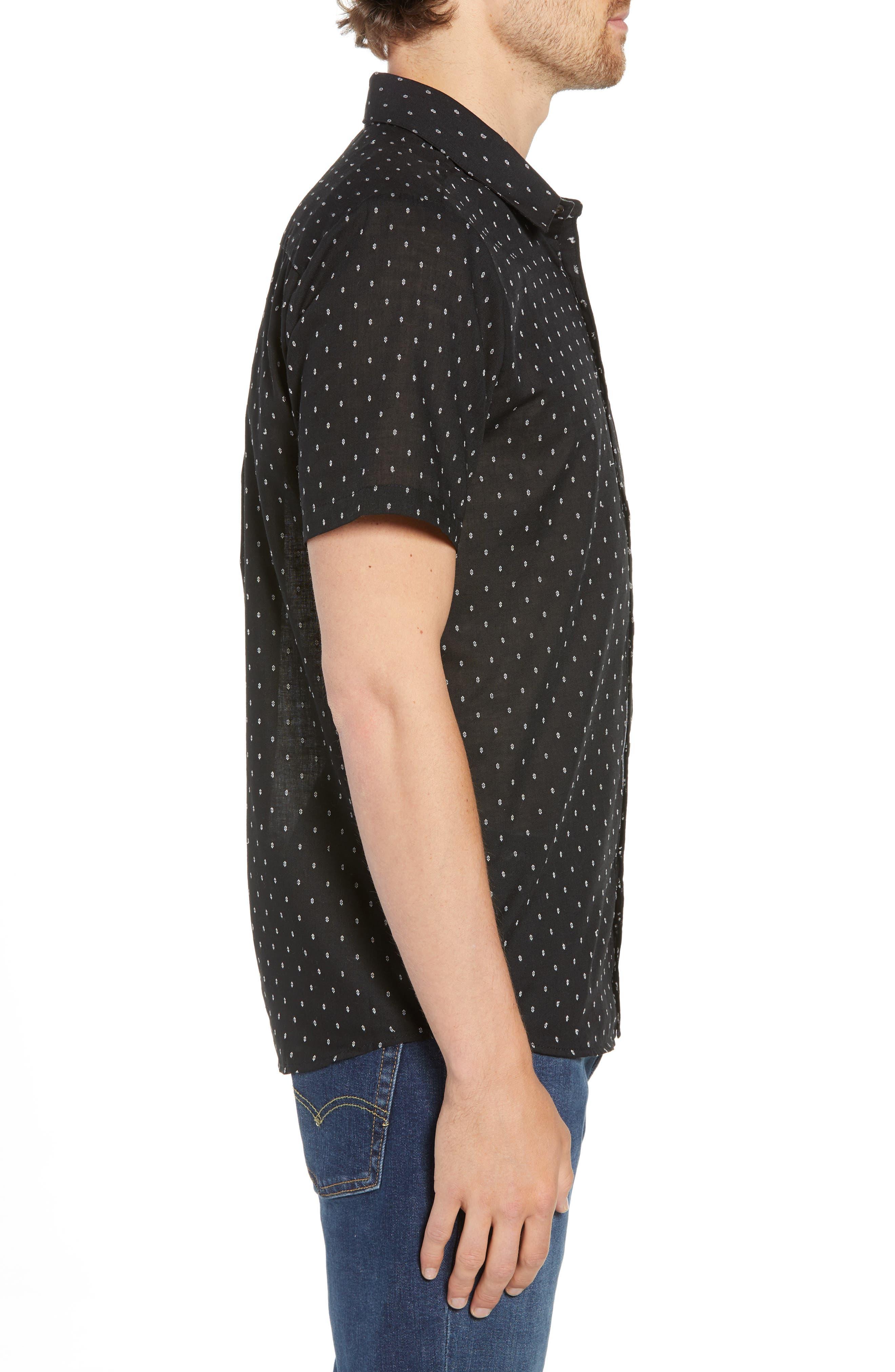 Dobler Woven Shirt,                             Alternate thumbnail 3, color,                             001