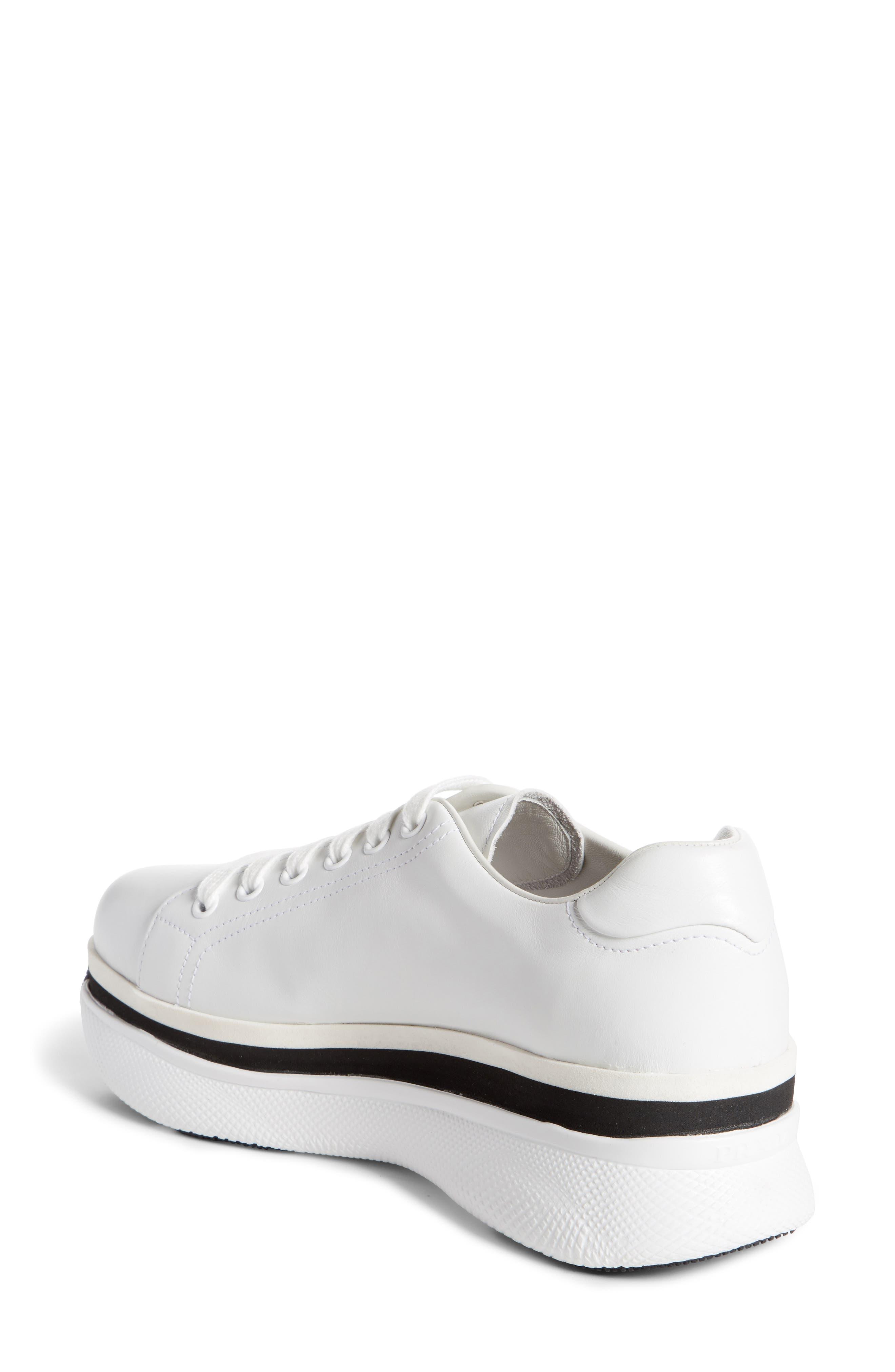 Platform Lace-Up Sneaker,                             Alternate thumbnail 4, color,