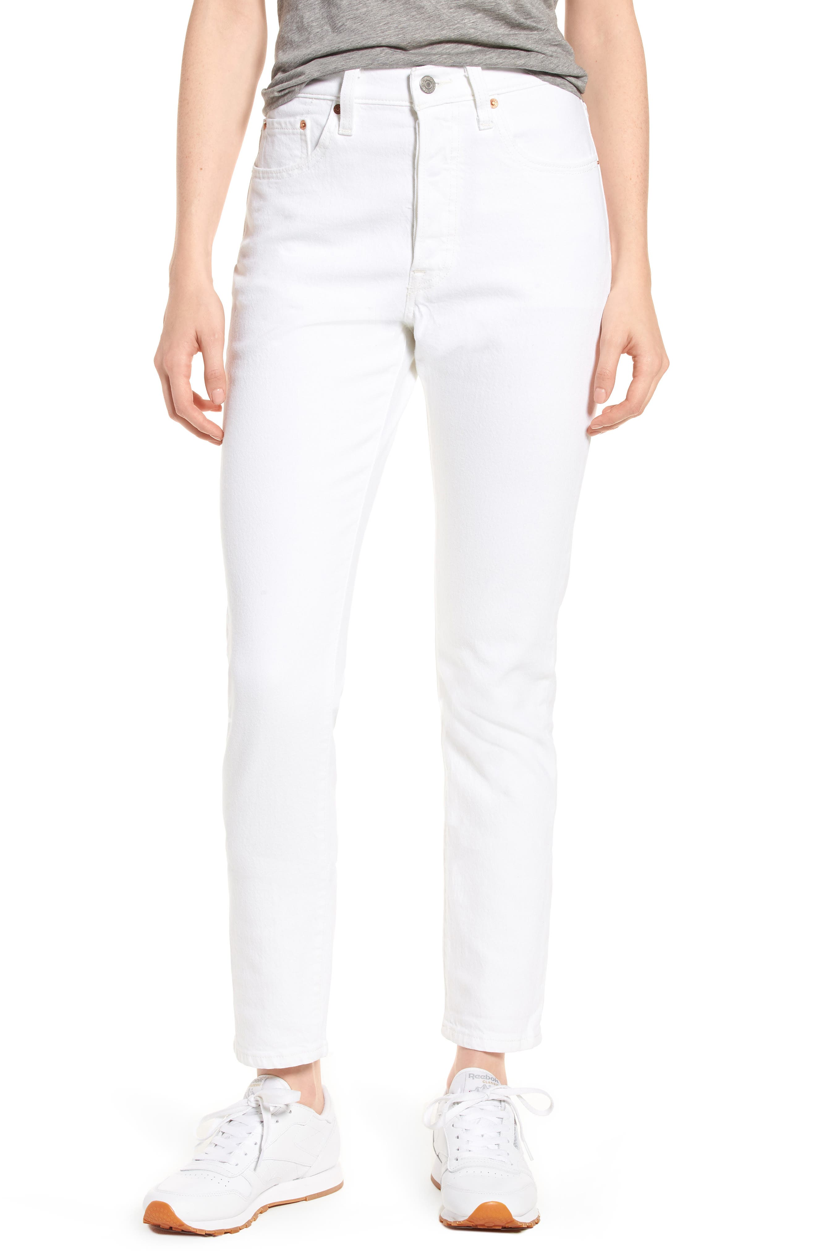 501<sup>®</sup> High Waist Skinny Jeans,                             Main thumbnail 1, color,                             100