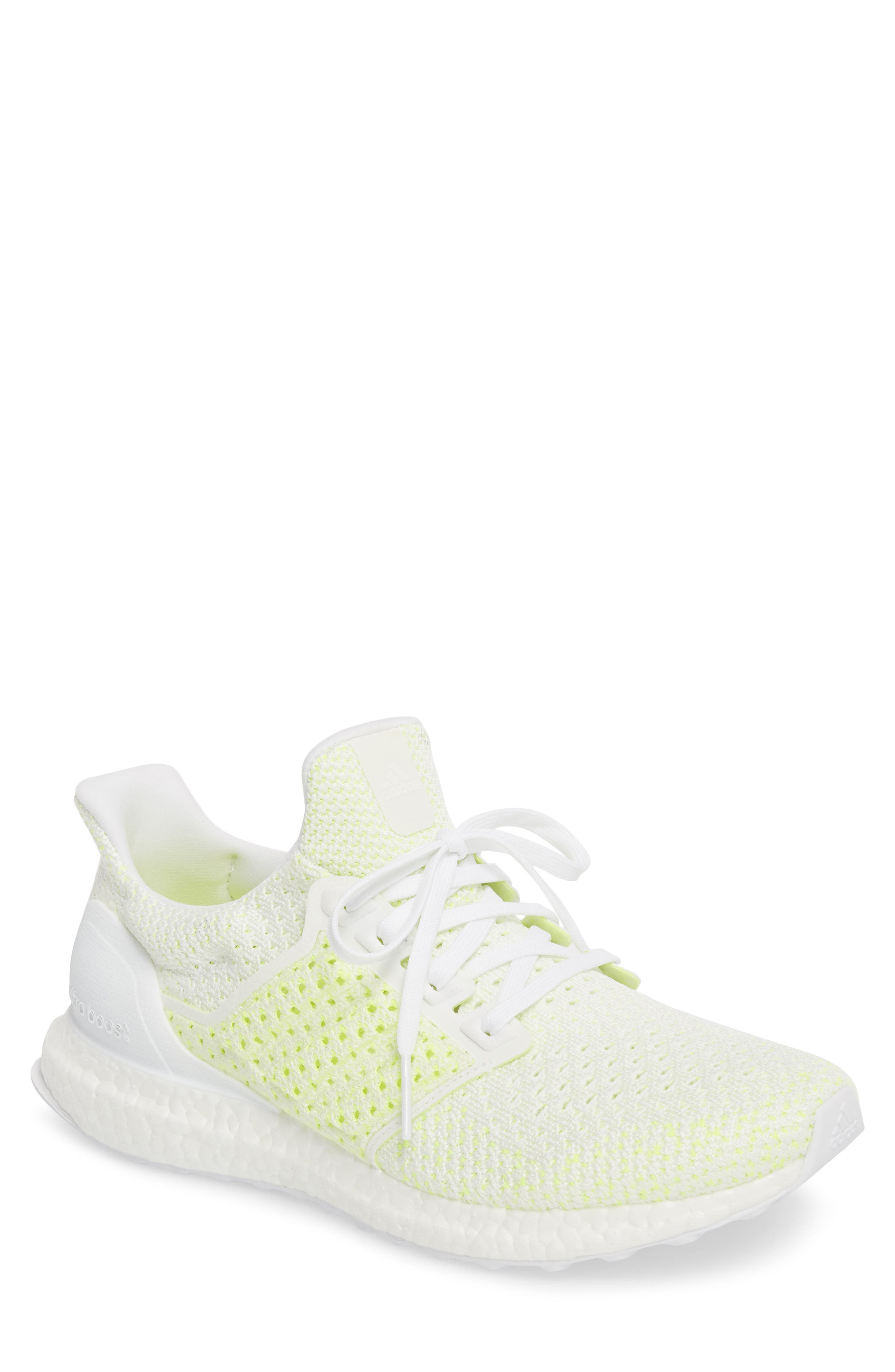Ultraboost x Clima Running Shoe,                         Main,                         color, WHITE/ WHITE/ SOLAR RED