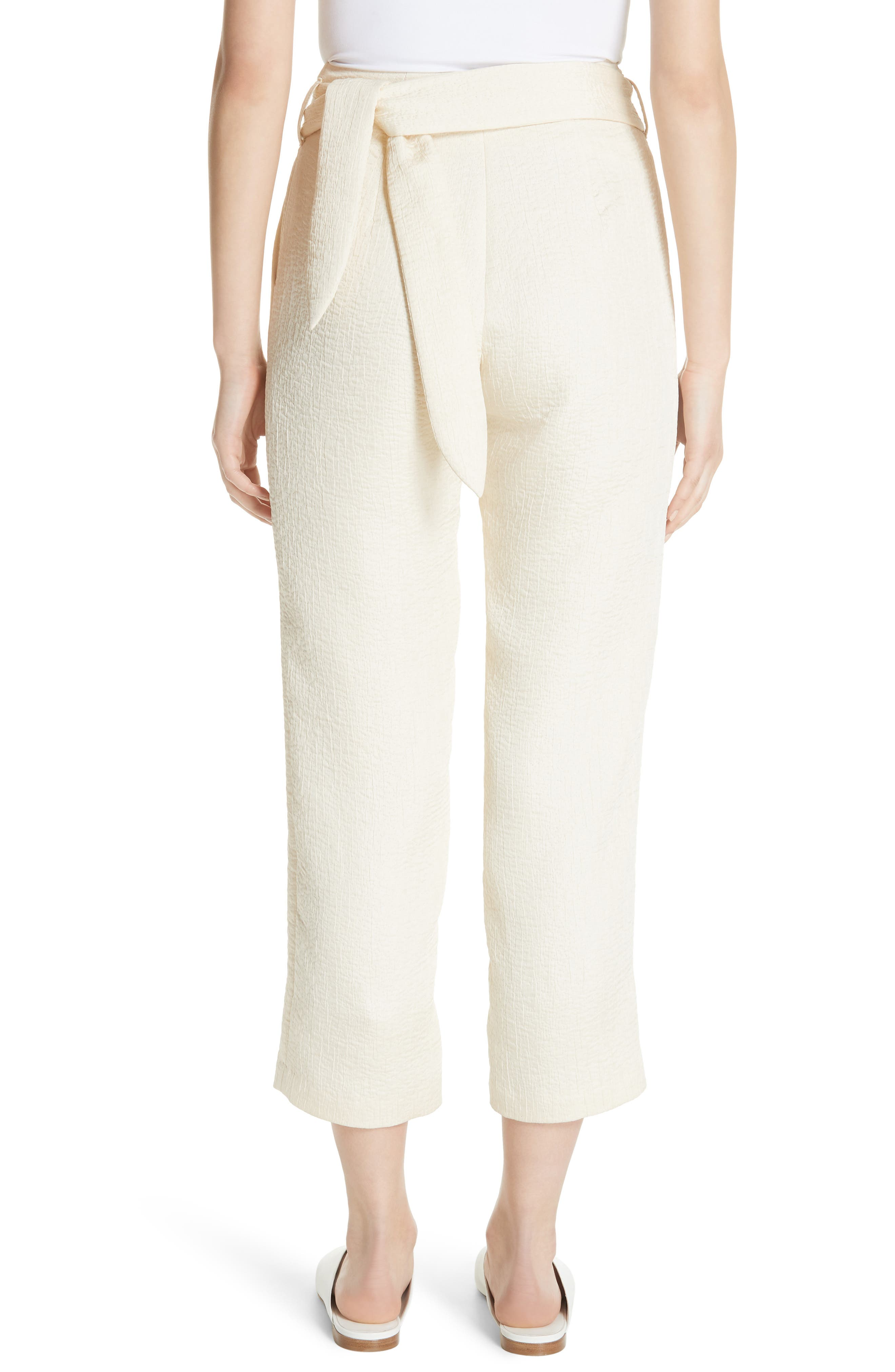 Raimo Belt Bag Crop Pants,                             Alternate thumbnail 2, color,                             CREME
