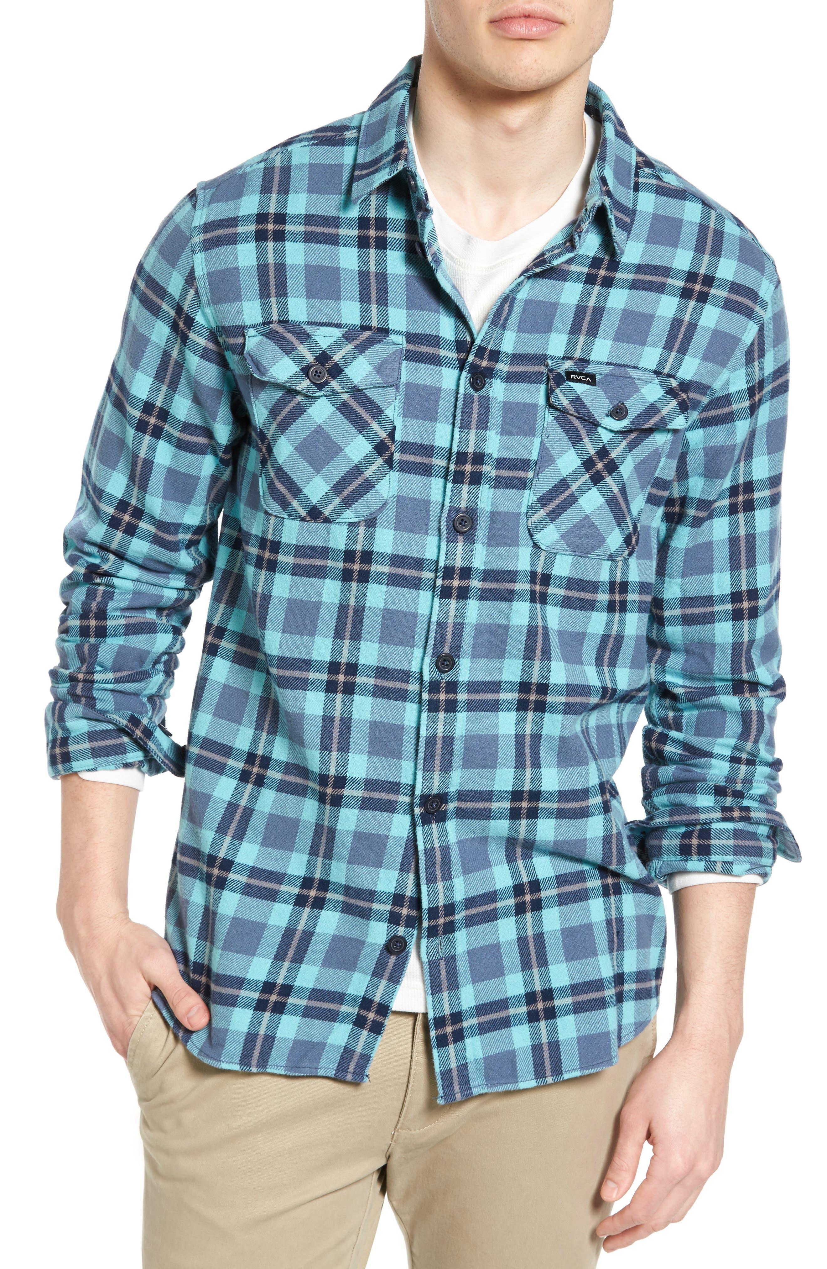 'That'll Work' Trim Fit Plaid Flannel Shirt,                             Main thumbnail 6, color,
