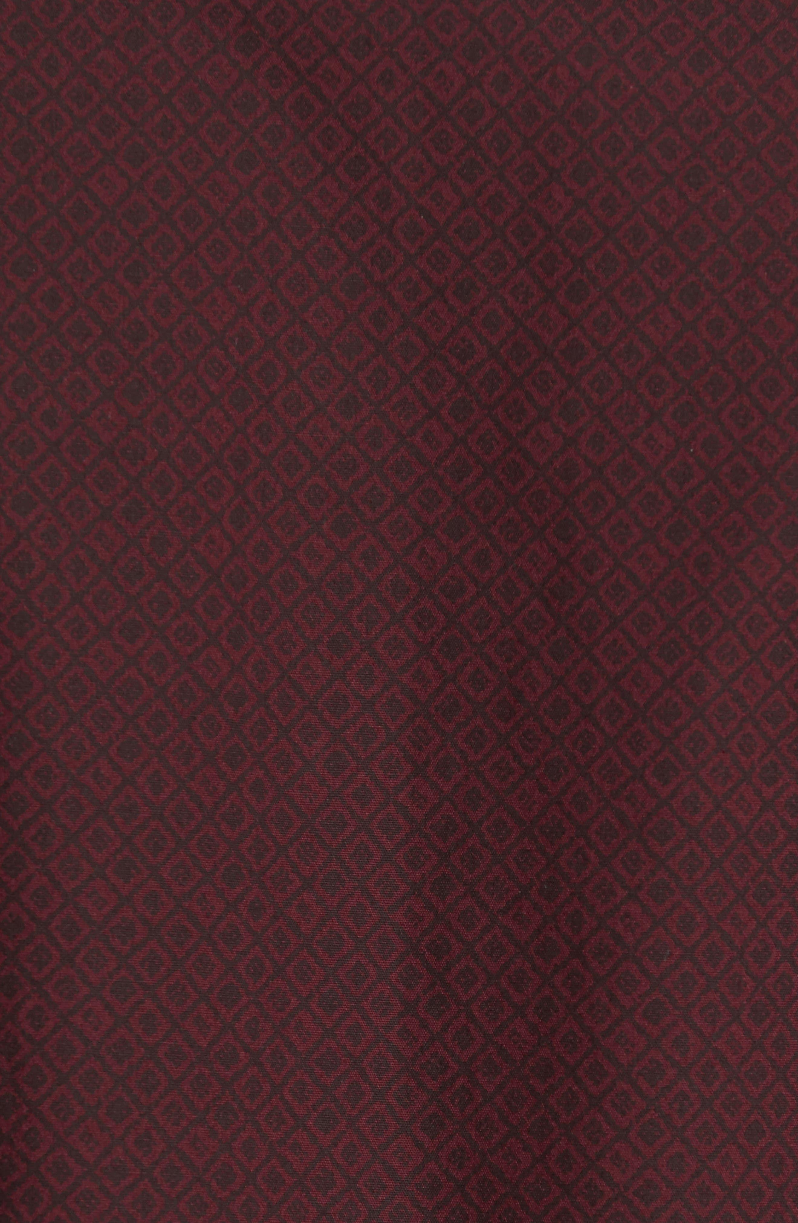 Slim Fit Non-Iron Diamond Print Sport Shirt,                             Alternate thumbnail 5, color,                             501