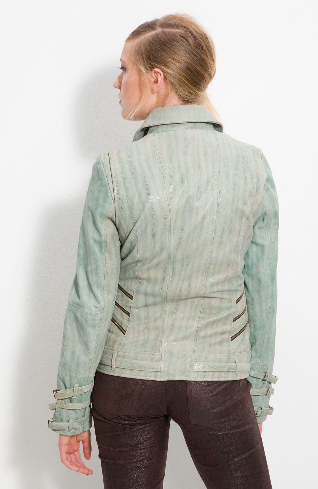 'Aqua' Moto Jacket,                             Alternate thumbnail 2, color,                             332