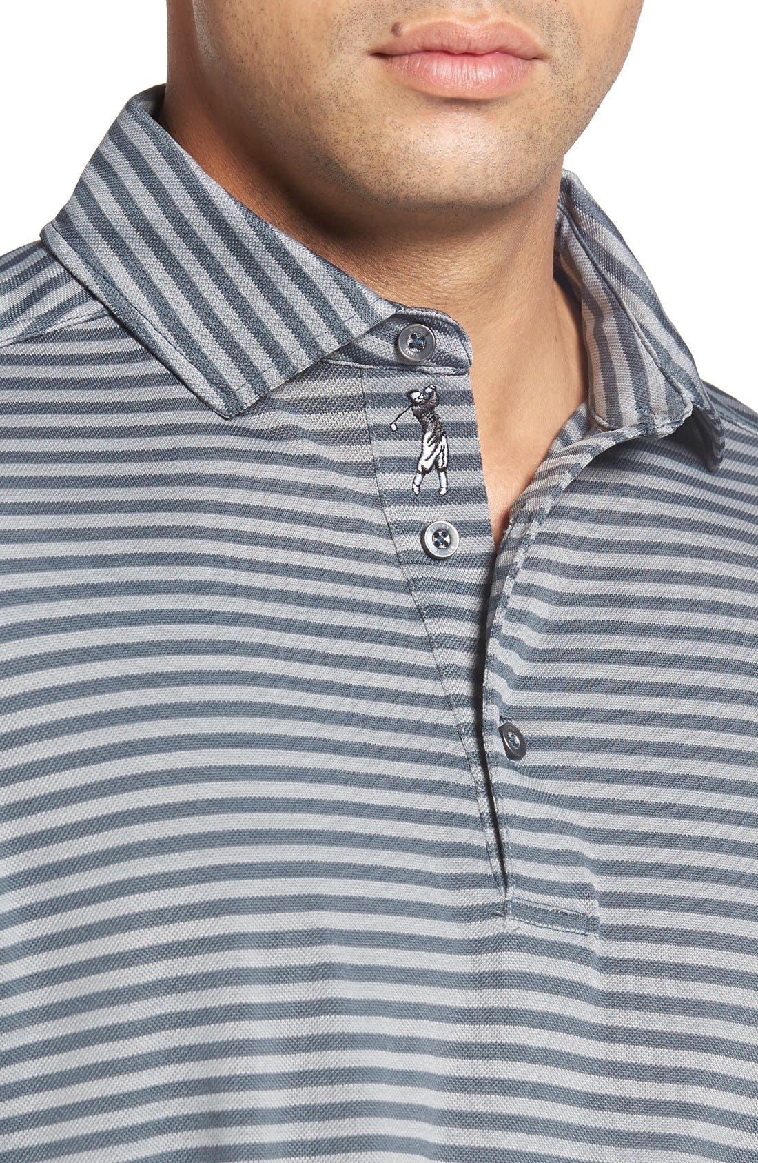 XH2O Feed Stripe Stretch Golf Polo,                             Alternate thumbnail 61, color,