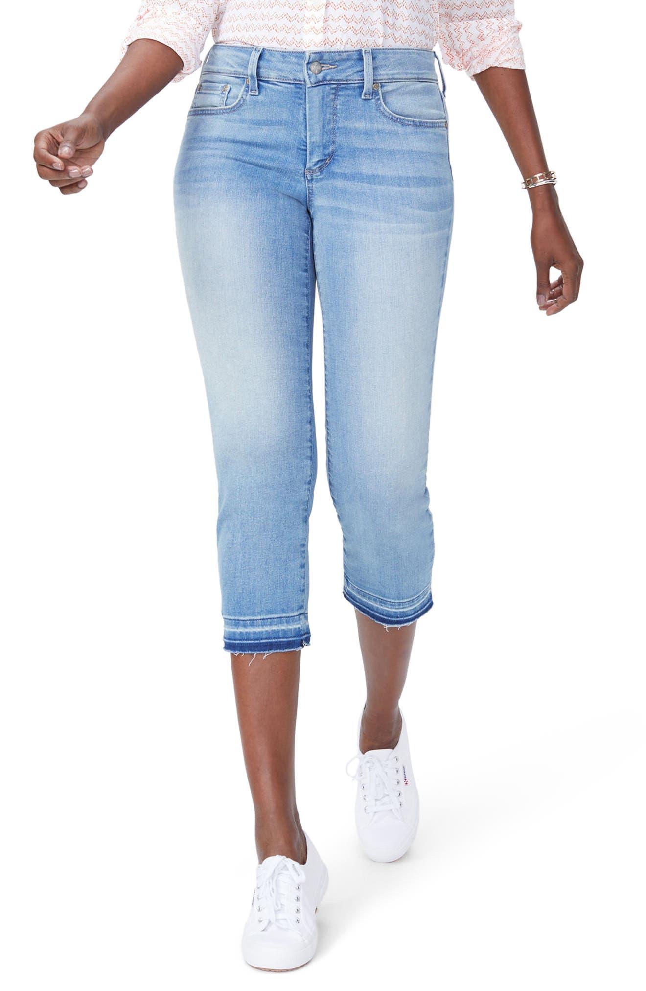 Release Hem Capri Skinny Jeans,                             Main thumbnail 1, color,                             DREAM STATE