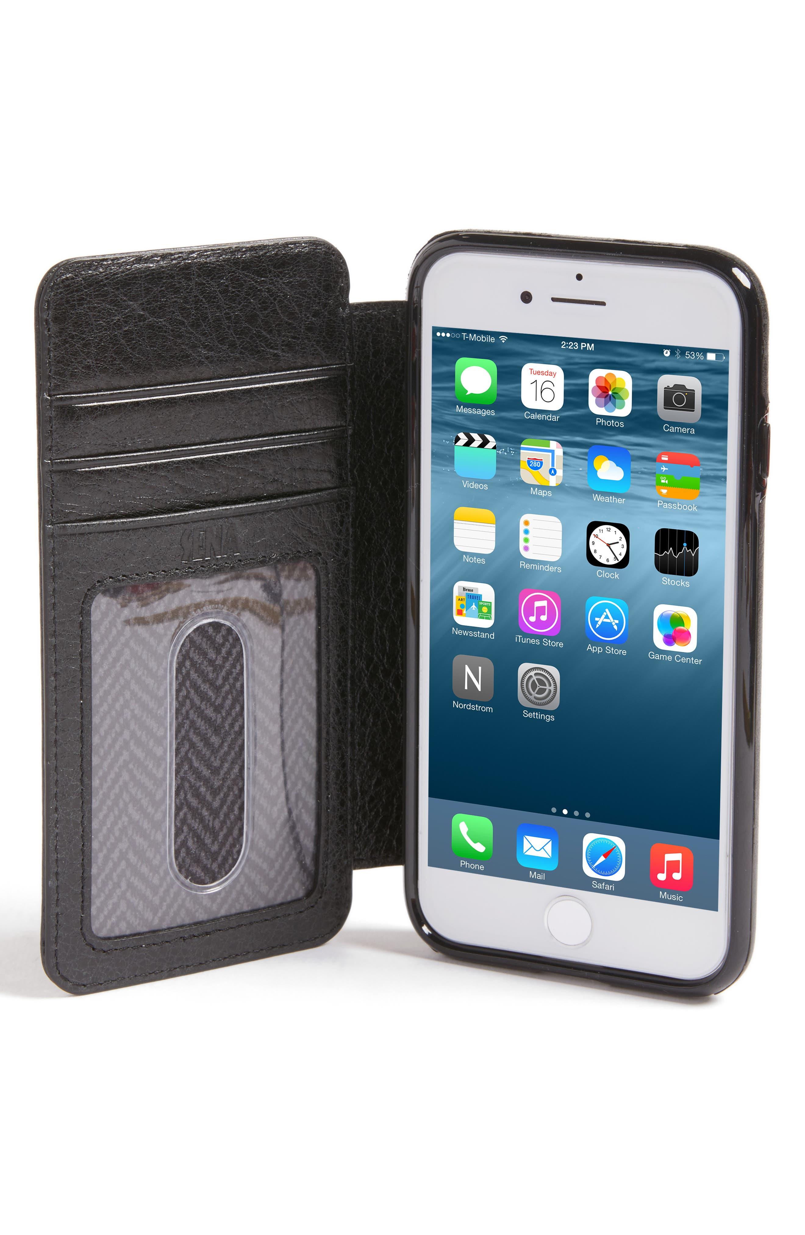 SENA,                             iPhone 7/8 Leather Wallet Case,                             Alternate thumbnail 2, color,                             005