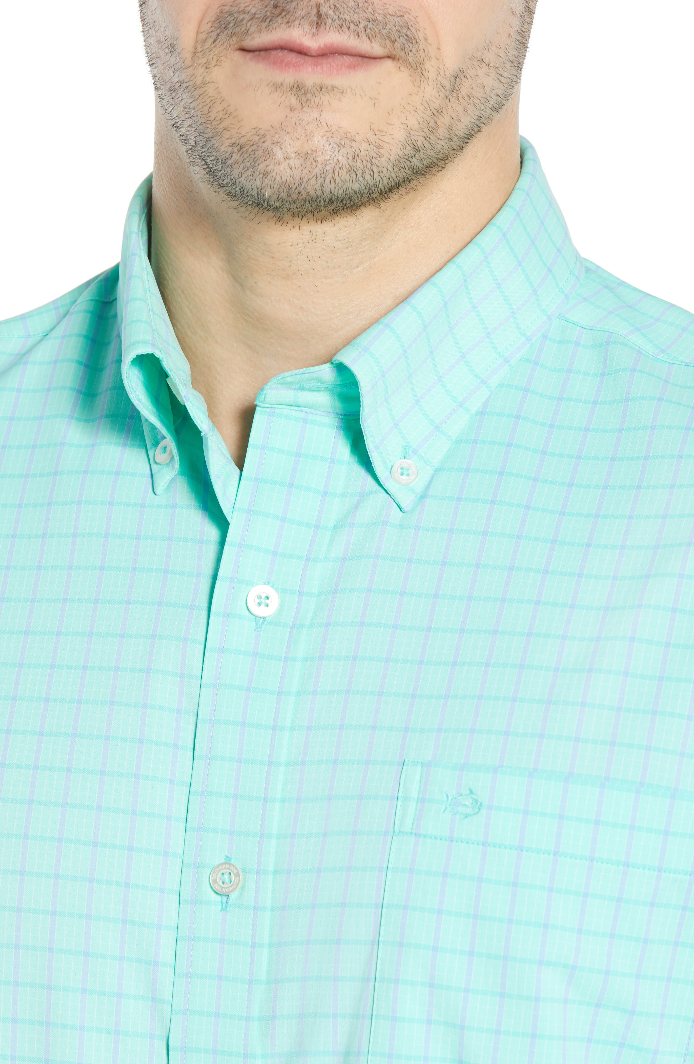 Intercoastal Gordia Plaid Sport Shirt,                             Alternate thumbnail 7, color,