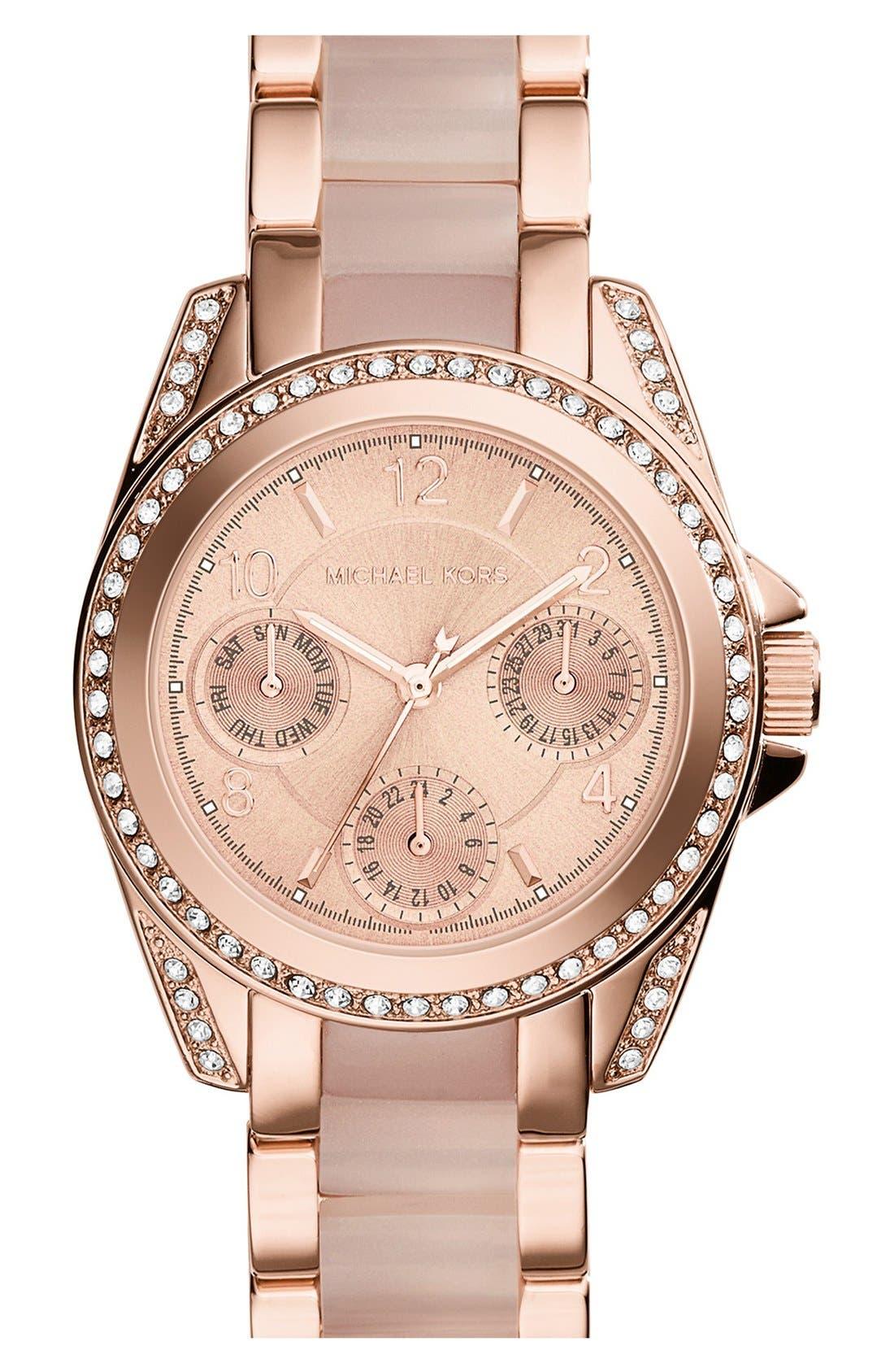 'MiniBlair' Multifunction Bracelet Watch, 33mm,                             Main thumbnail 1, color,