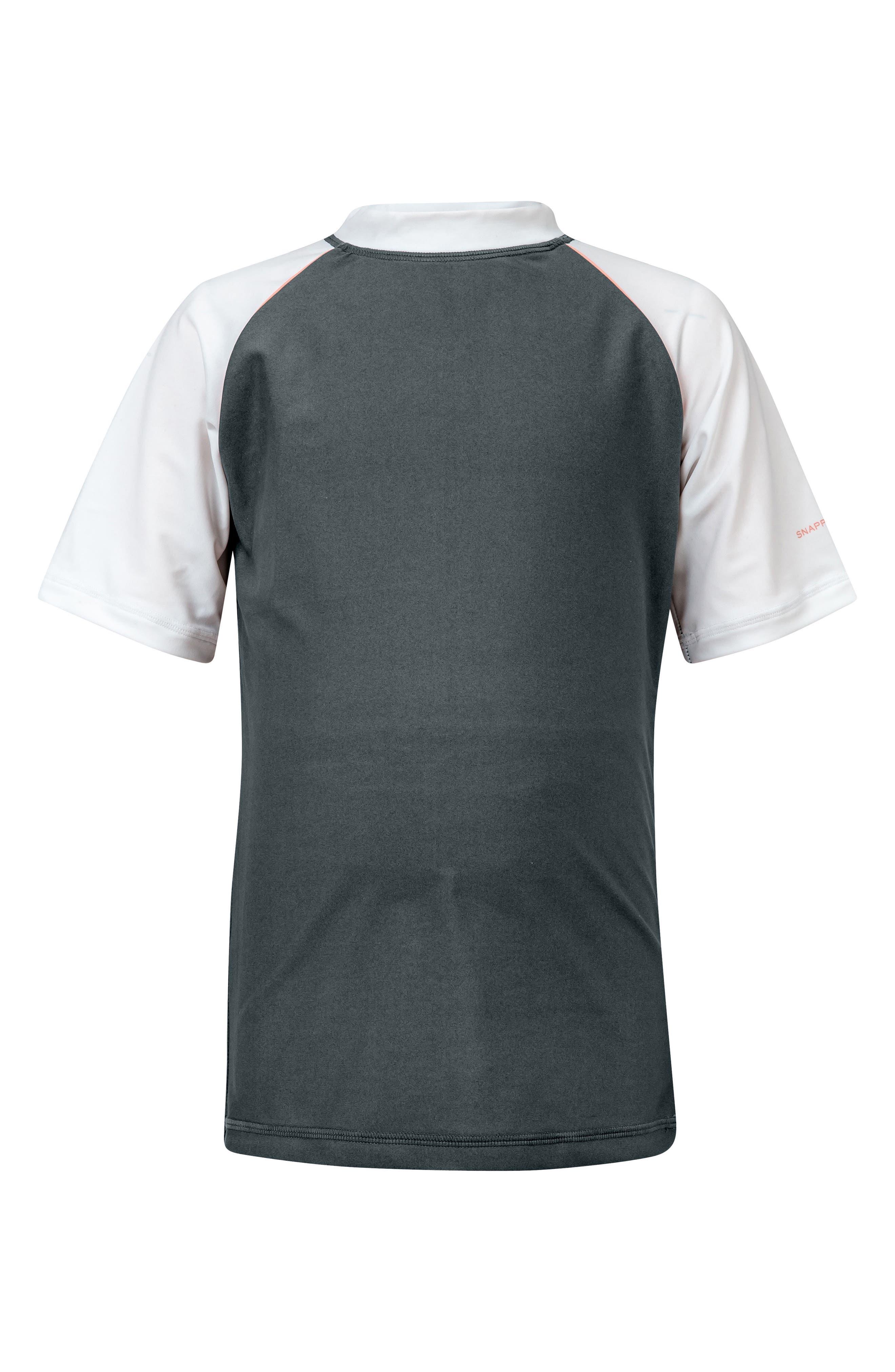 Raglan Short Sleeve Rashguard,                             Main thumbnail 1, color,                             STEEL GREY