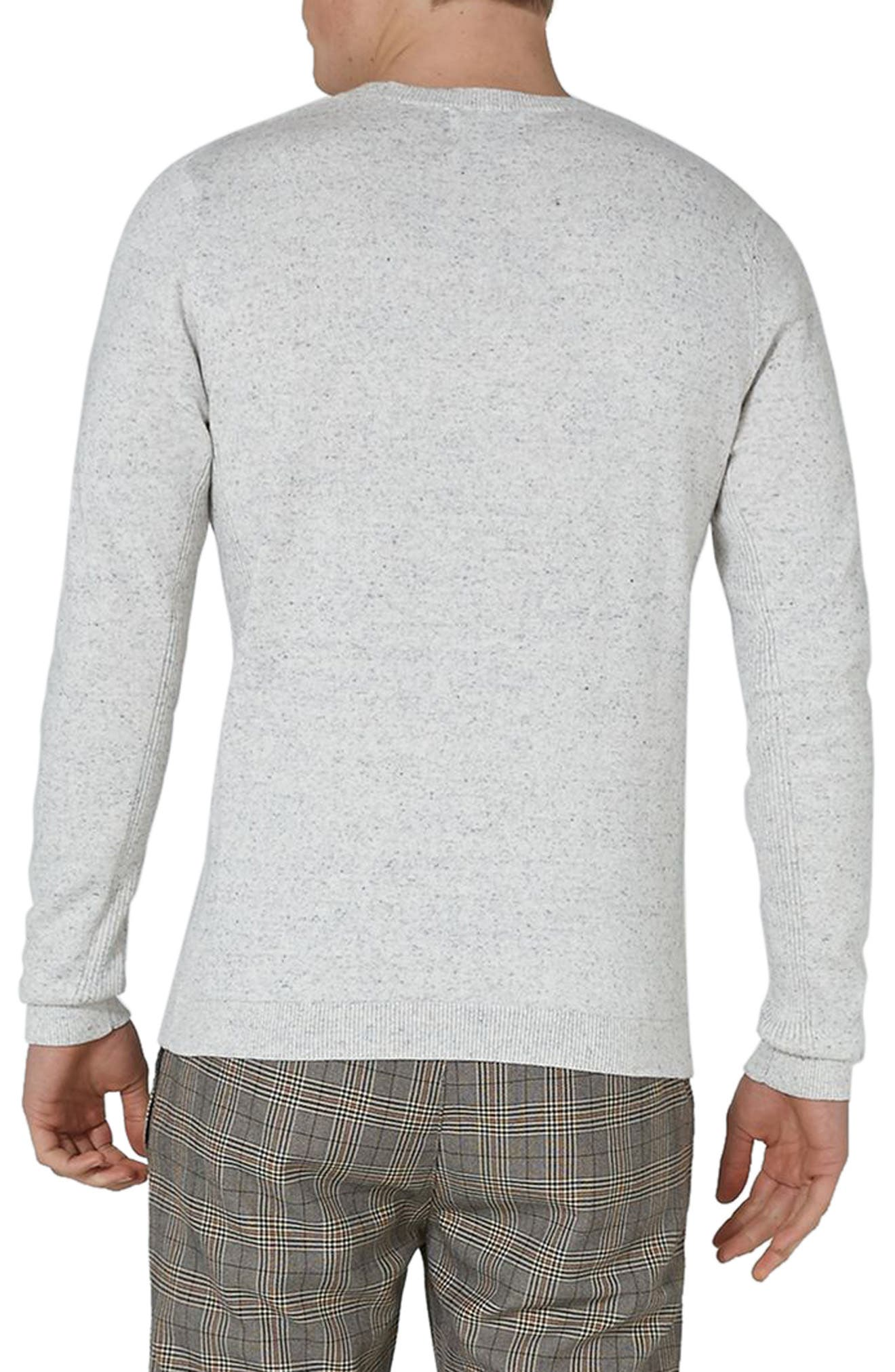 Side Ribbed Slim Fit Sweater,                             Alternate thumbnail 15, color,