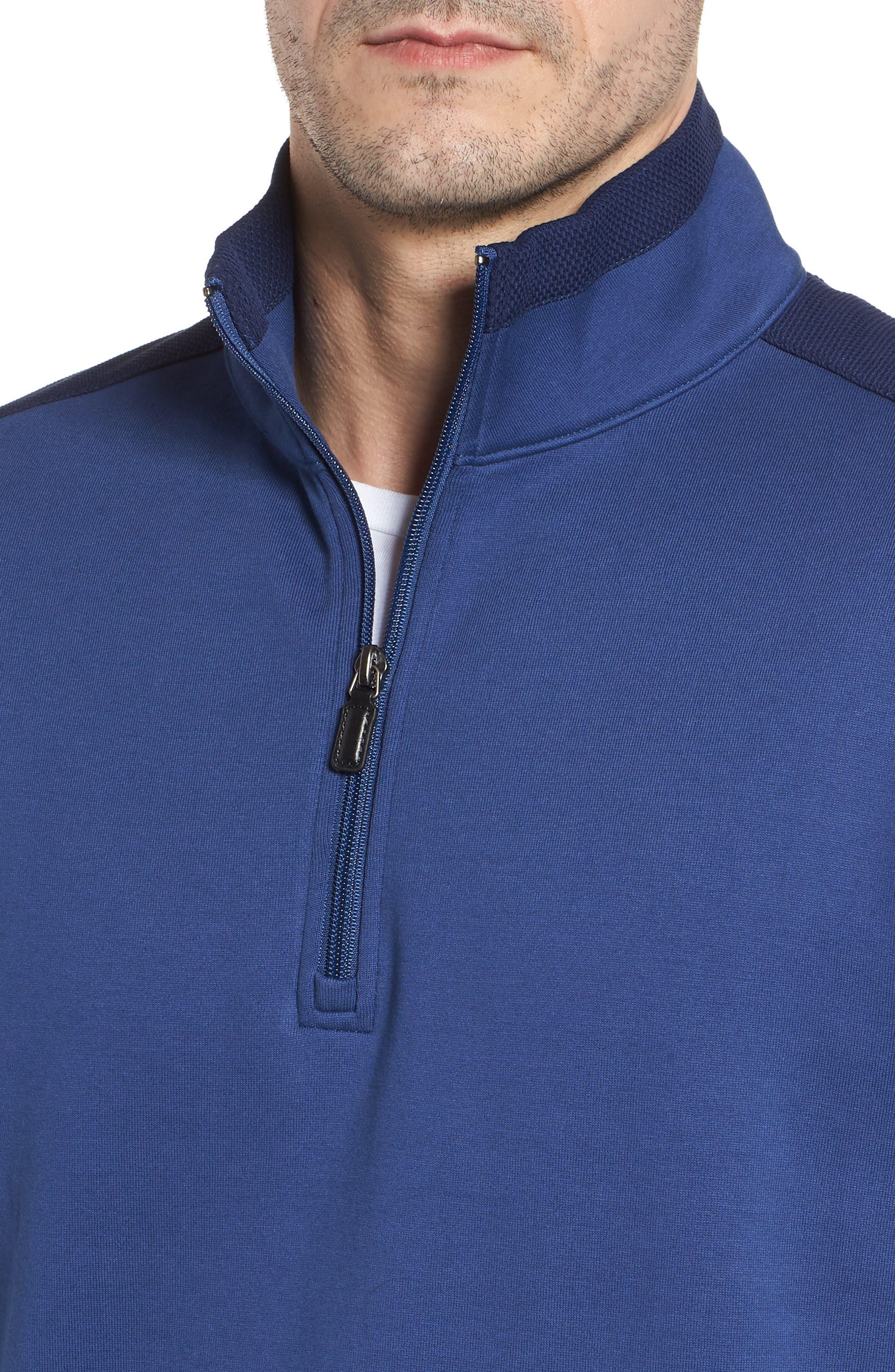 Regular Fit Knit Quarter Zip Pullover,                             Alternate thumbnail 14, color,