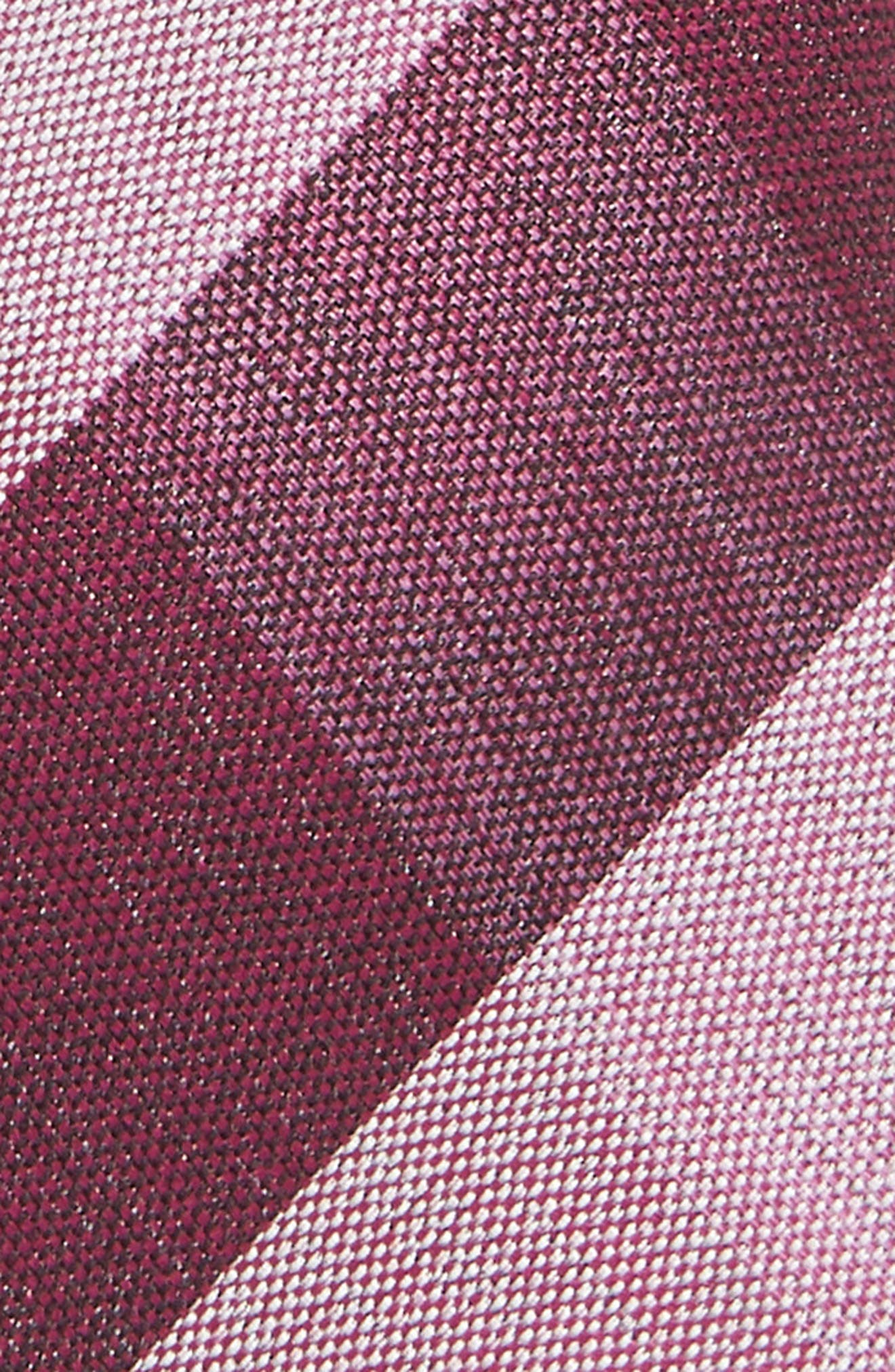 Check Cotton & Silk Tie,                             Alternate thumbnail 2, color,                             BERRY