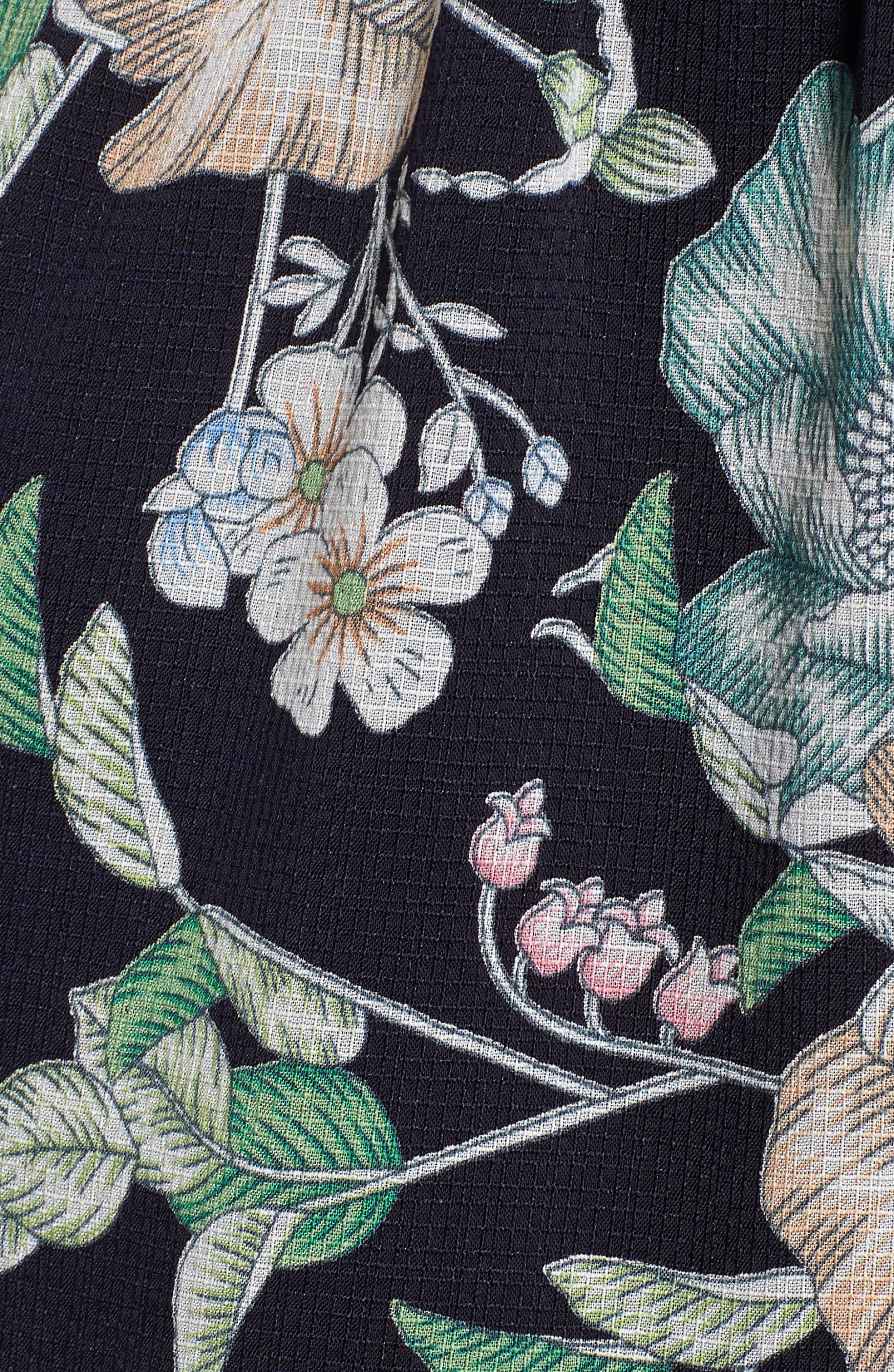 Floral Cold Shoulder Romper,                             Alternate thumbnail 6, color,                             NAVY FLORAL