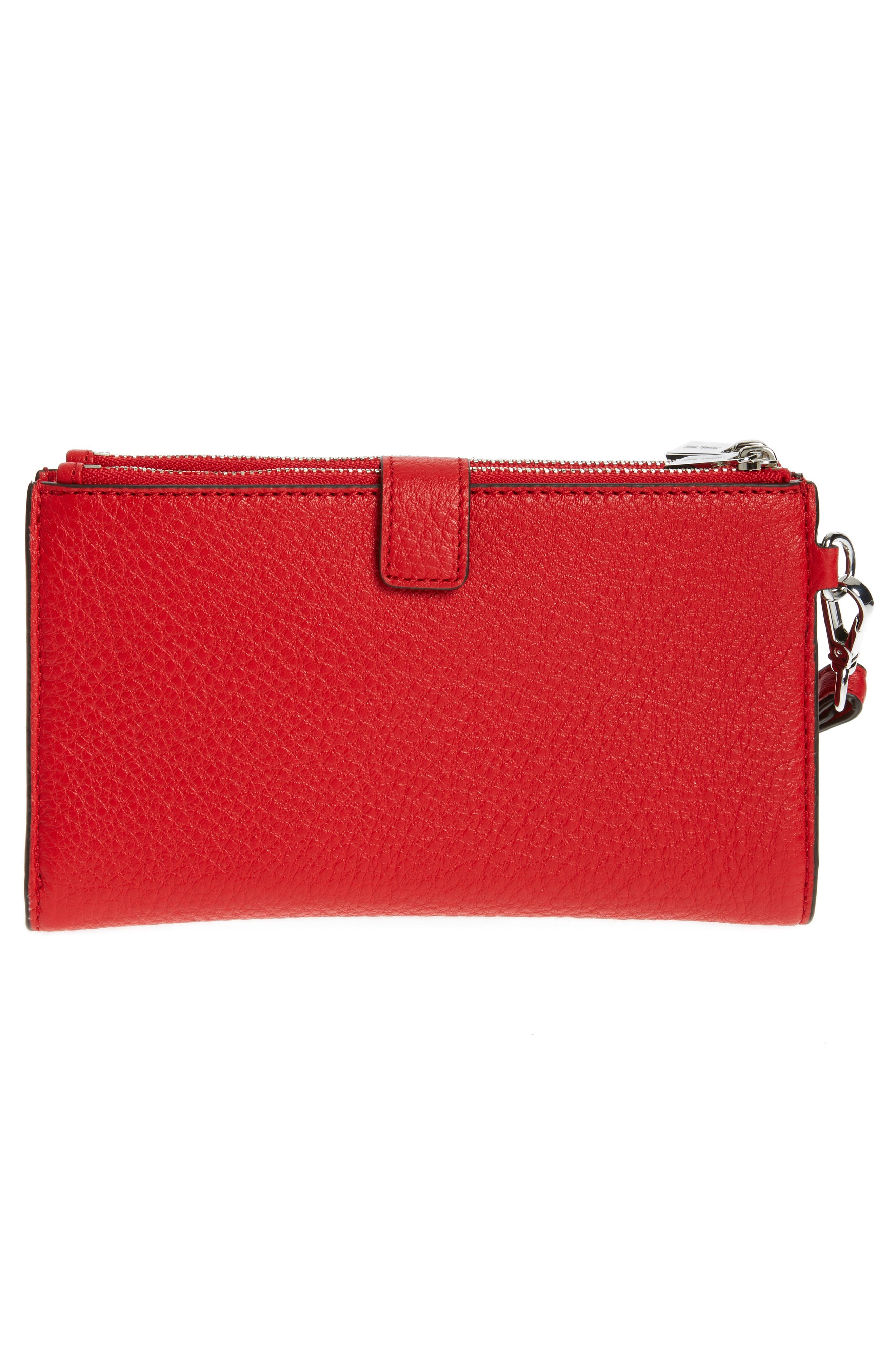 Adele Leather Wristlet,                             Alternate thumbnail 40, color,