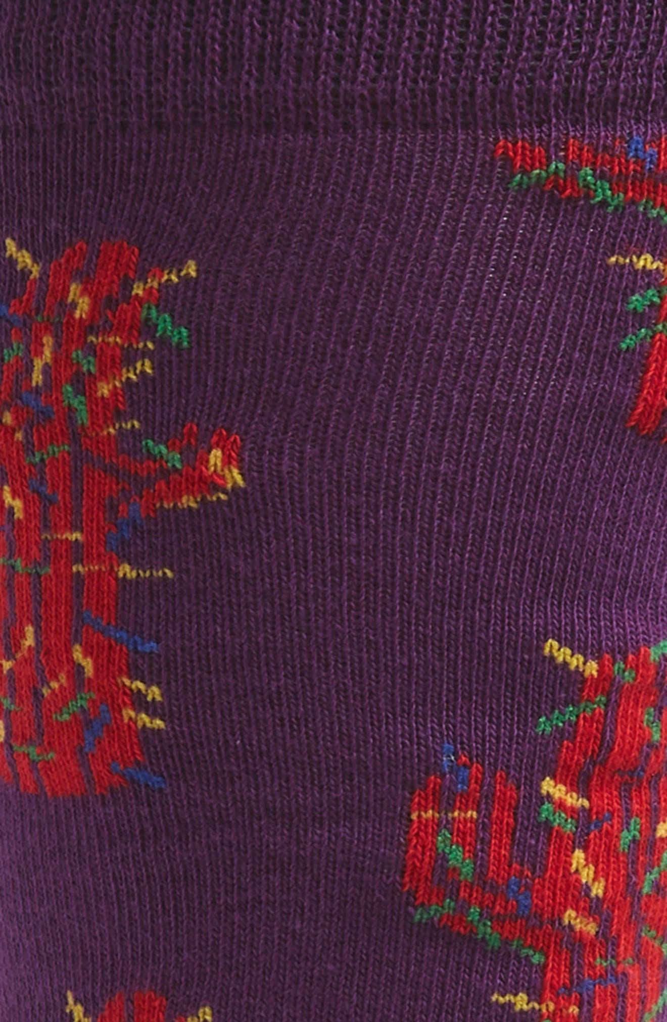 Cactus Socks,                             Alternate thumbnail 2, color,                             PURPLE