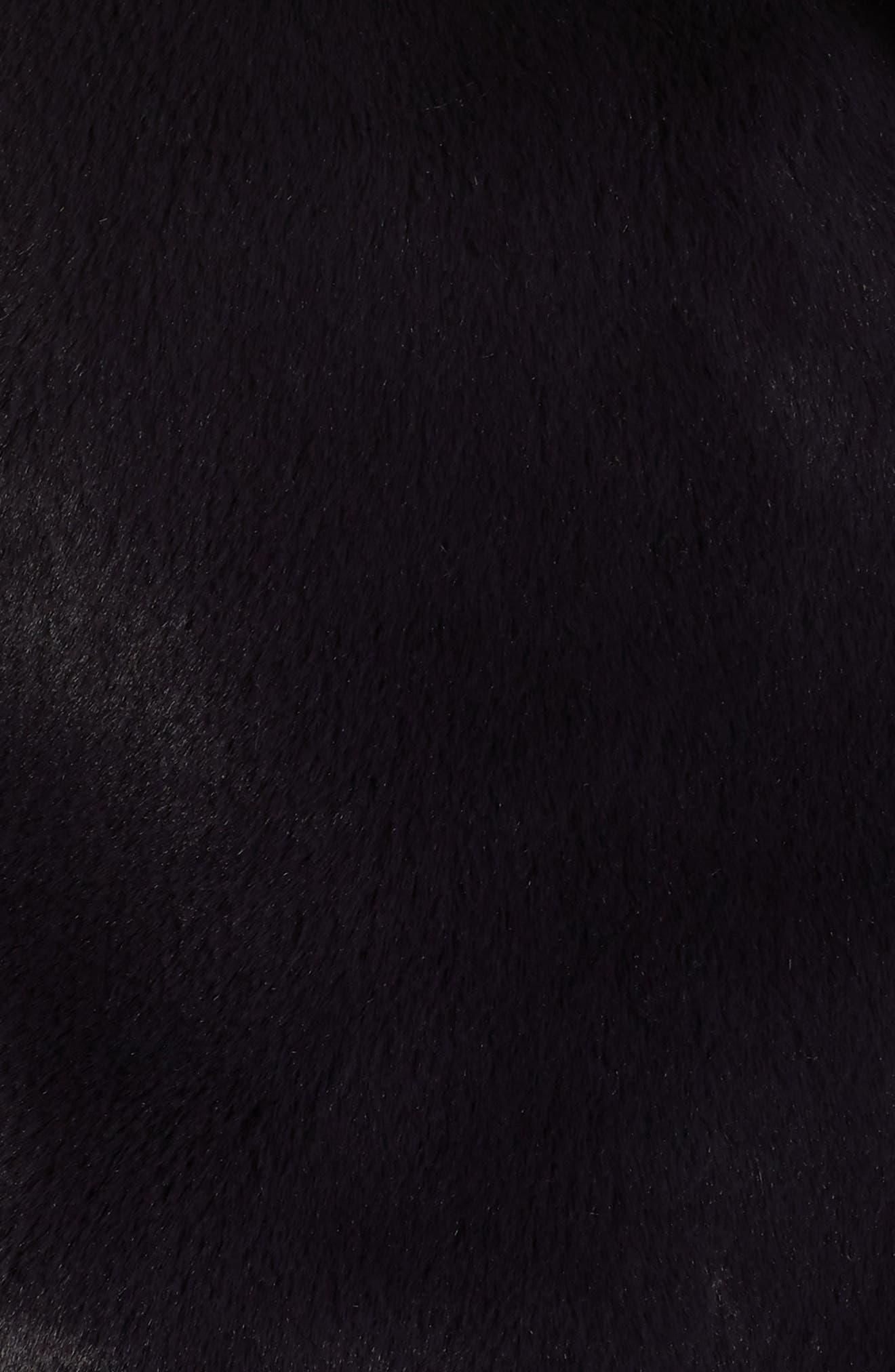 Faux Fur Coat,                             Alternate thumbnail 7, color,                             SLATE