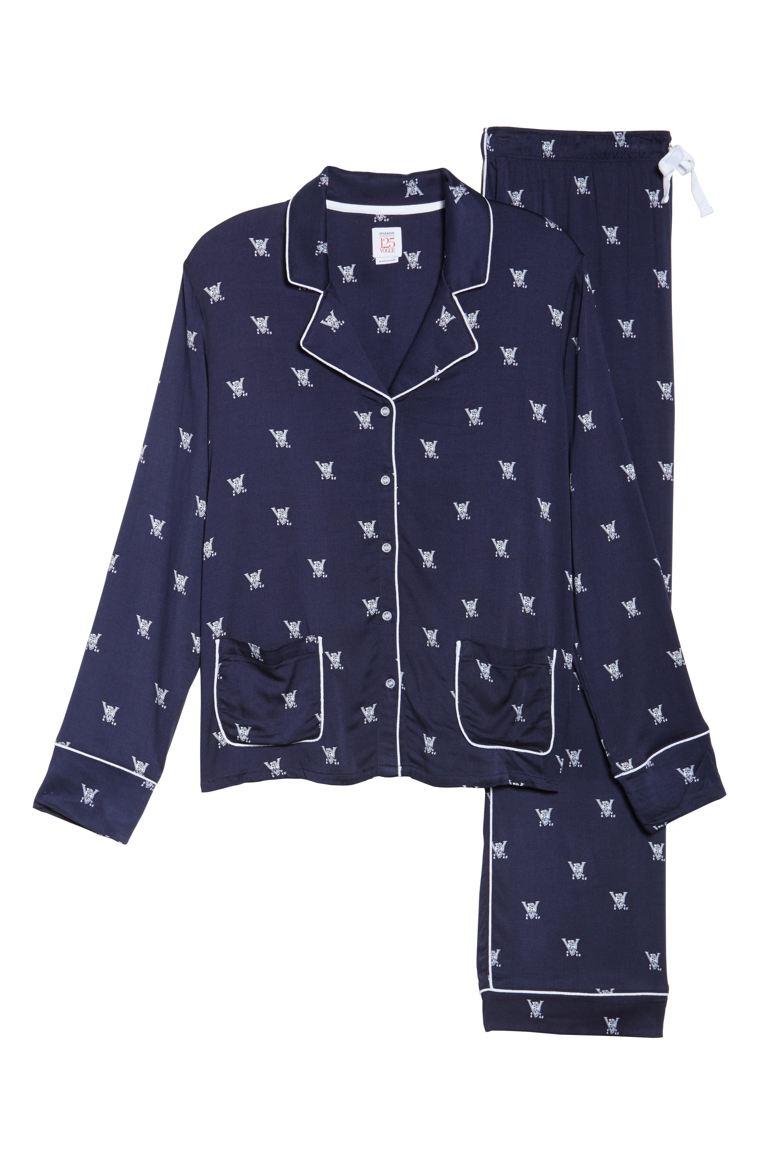 Notch Collar Pajamas,                             Alternate thumbnail 6, color,                             400
