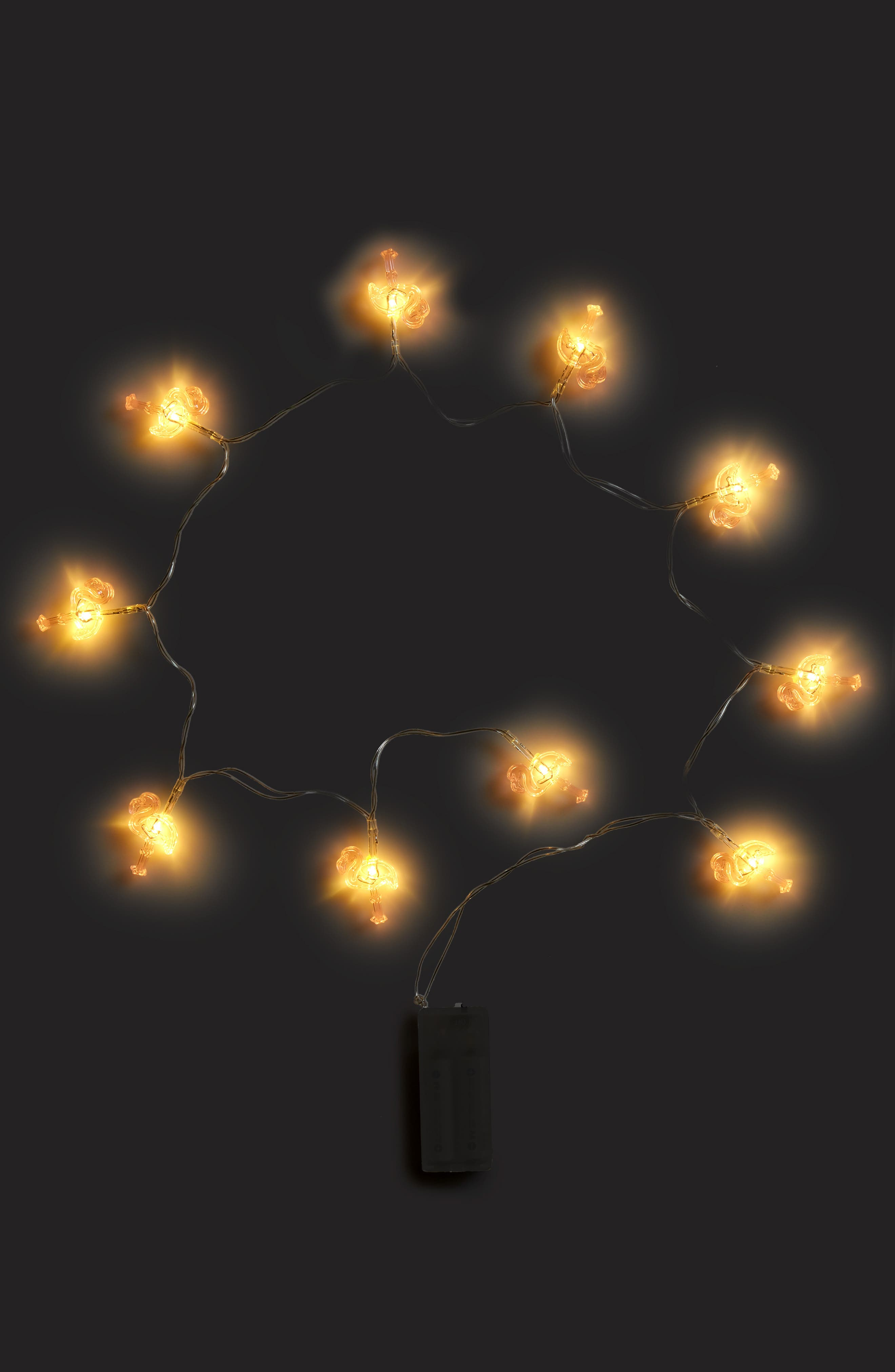 Flamingo Battery Operated String Lights,                             Alternate thumbnail 2, color,