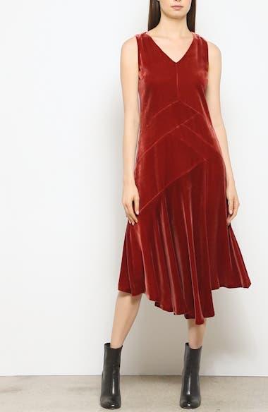 Ashlena Asymmetrical Velvet Dress, video thumbnail