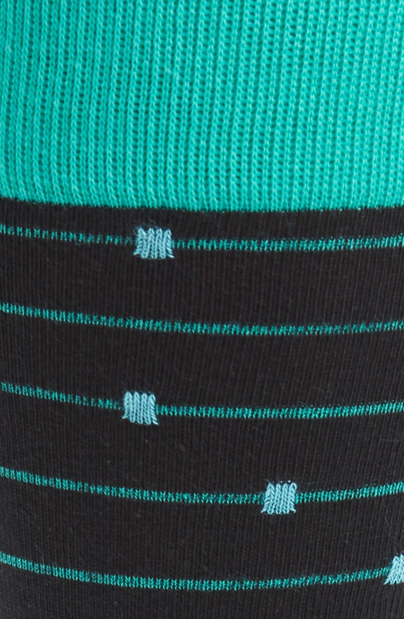 Ticked Stripe Socks,                             Alternate thumbnail 2, color,                             001