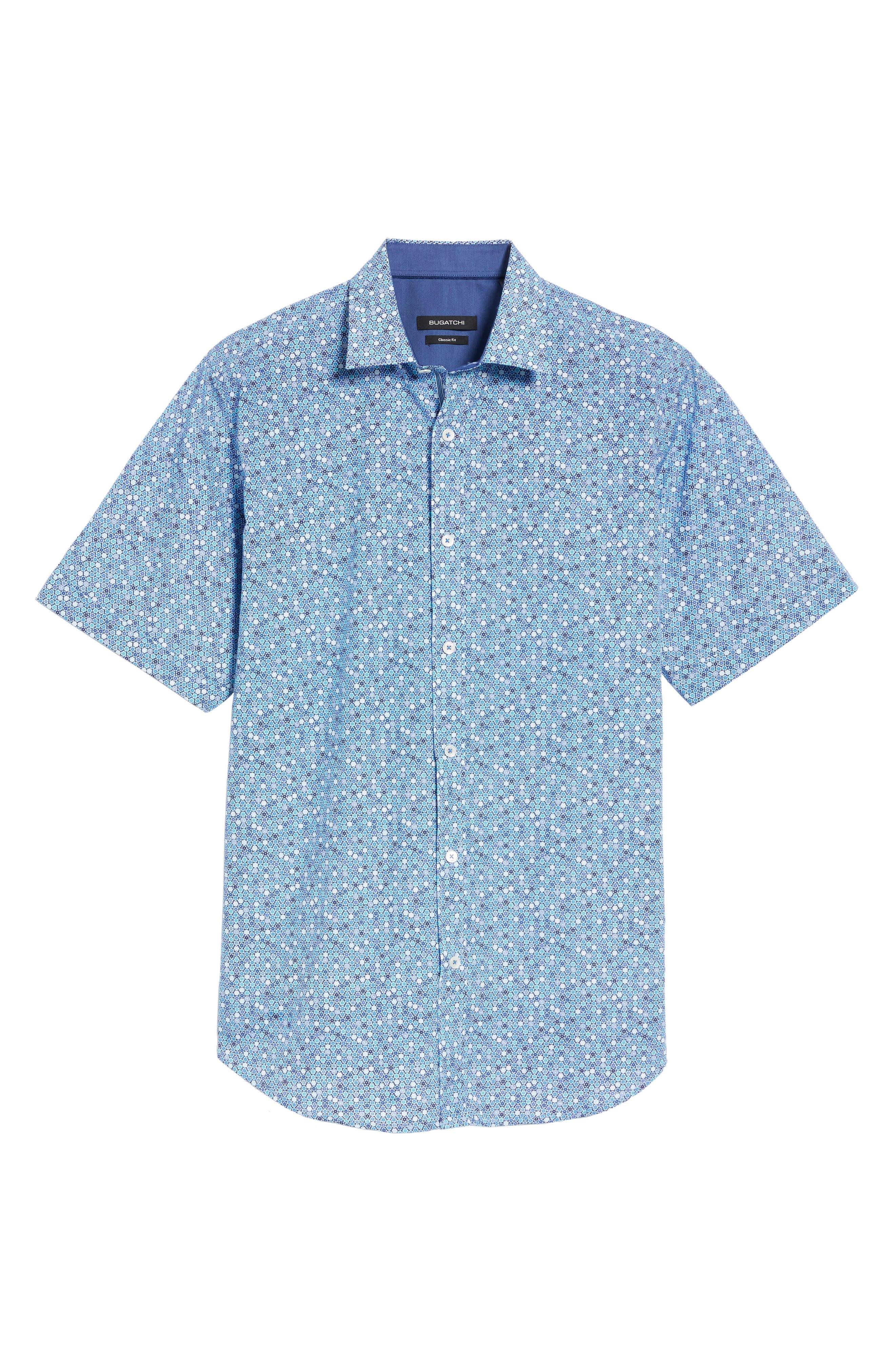 Classic Fit Flower Print Sport Shirt,                             Alternate thumbnail 6, color,
