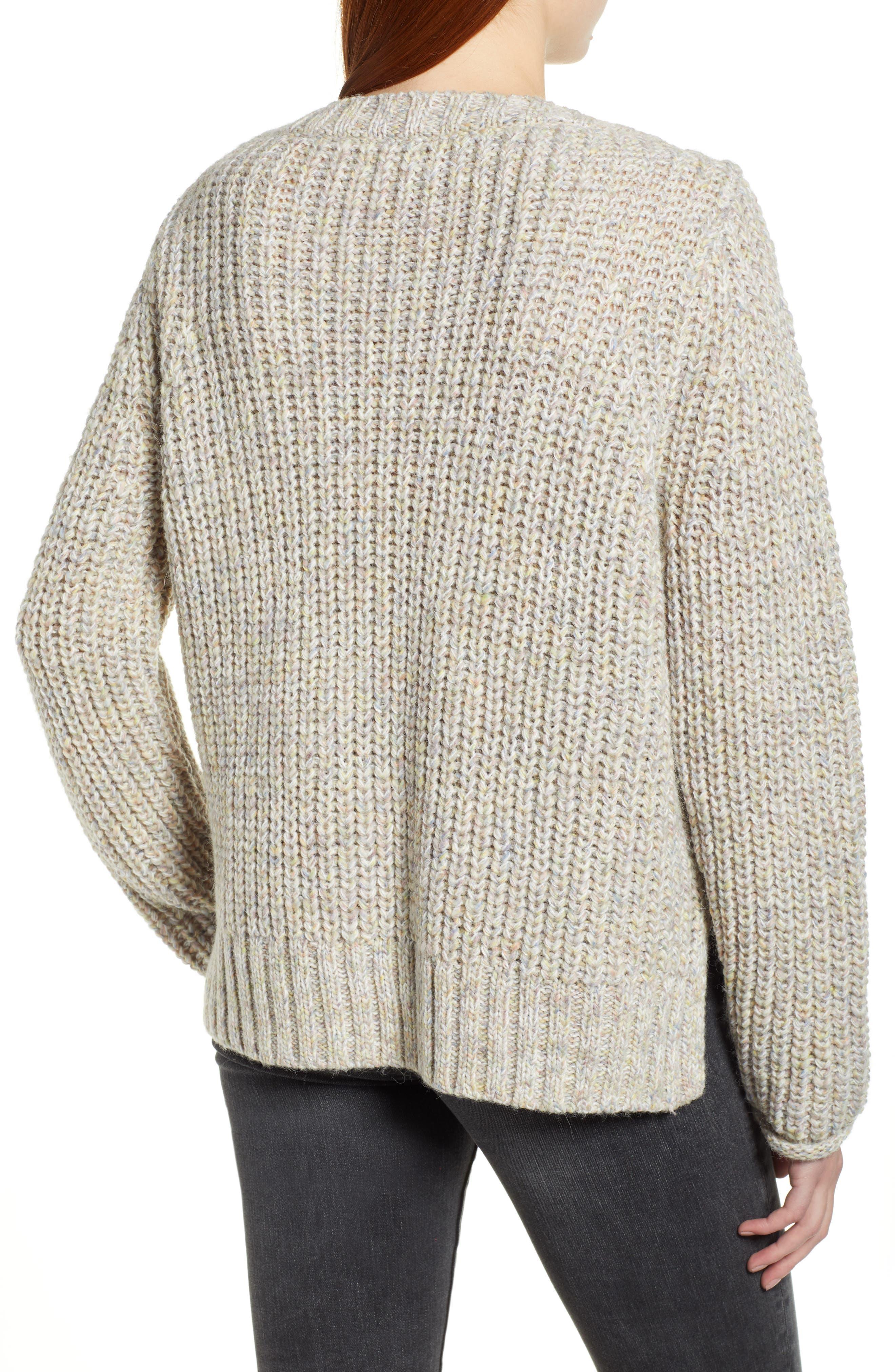 Boat Neck Sweater,                             Alternate thumbnail 2, color,                             BEIGE POPCORN PATTERN