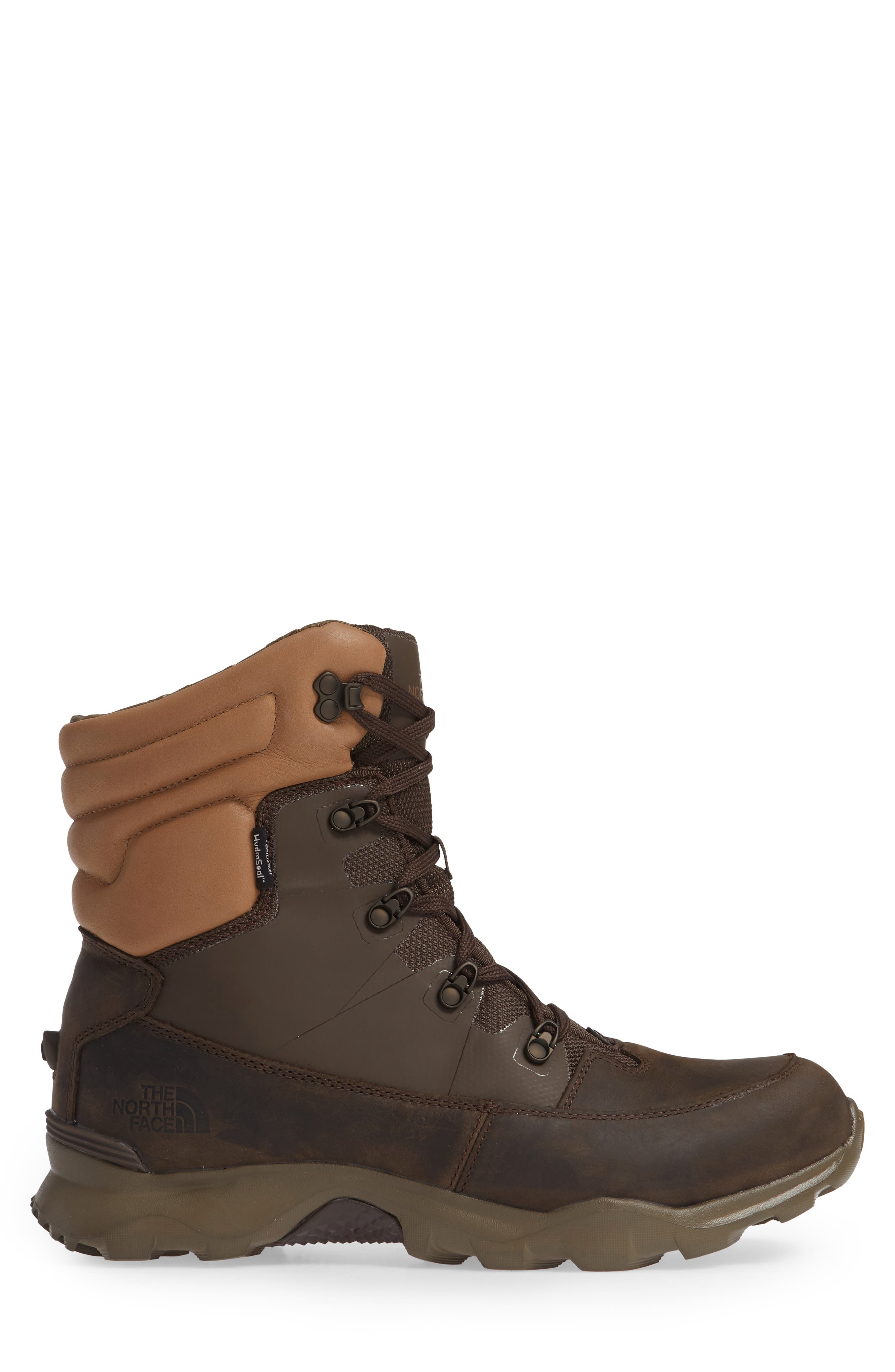THE NORTH FACE,                             ThermoBall Lifty Snow Waterproof Boot,                             Alternate thumbnail 3, color,                             CHOCOLATE BROWN/ CARGO KHAKI
