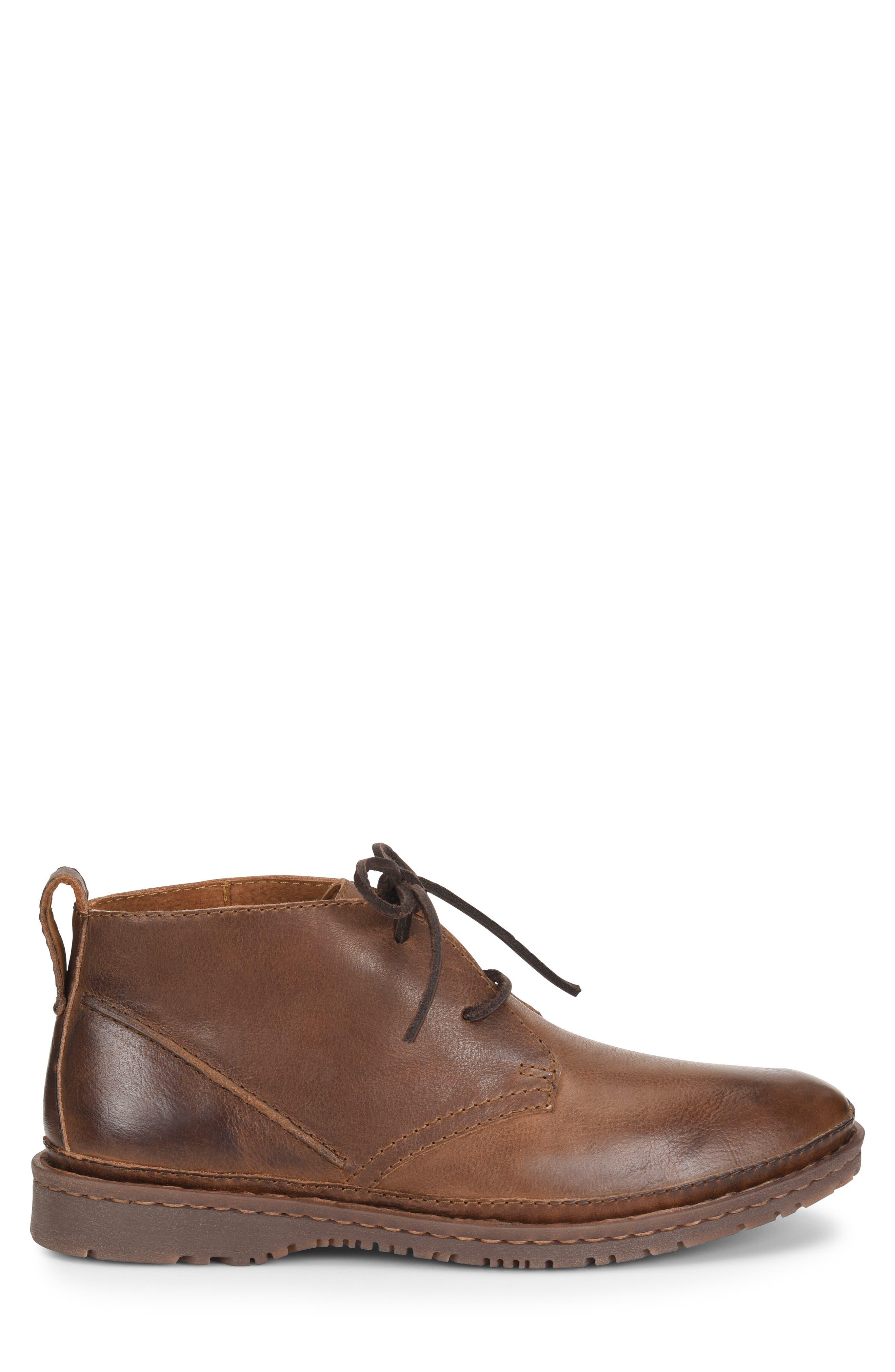 Elk II Chukka Boot,                             Alternate thumbnail 3, color,                             BROWN/BROWN LEATHER
