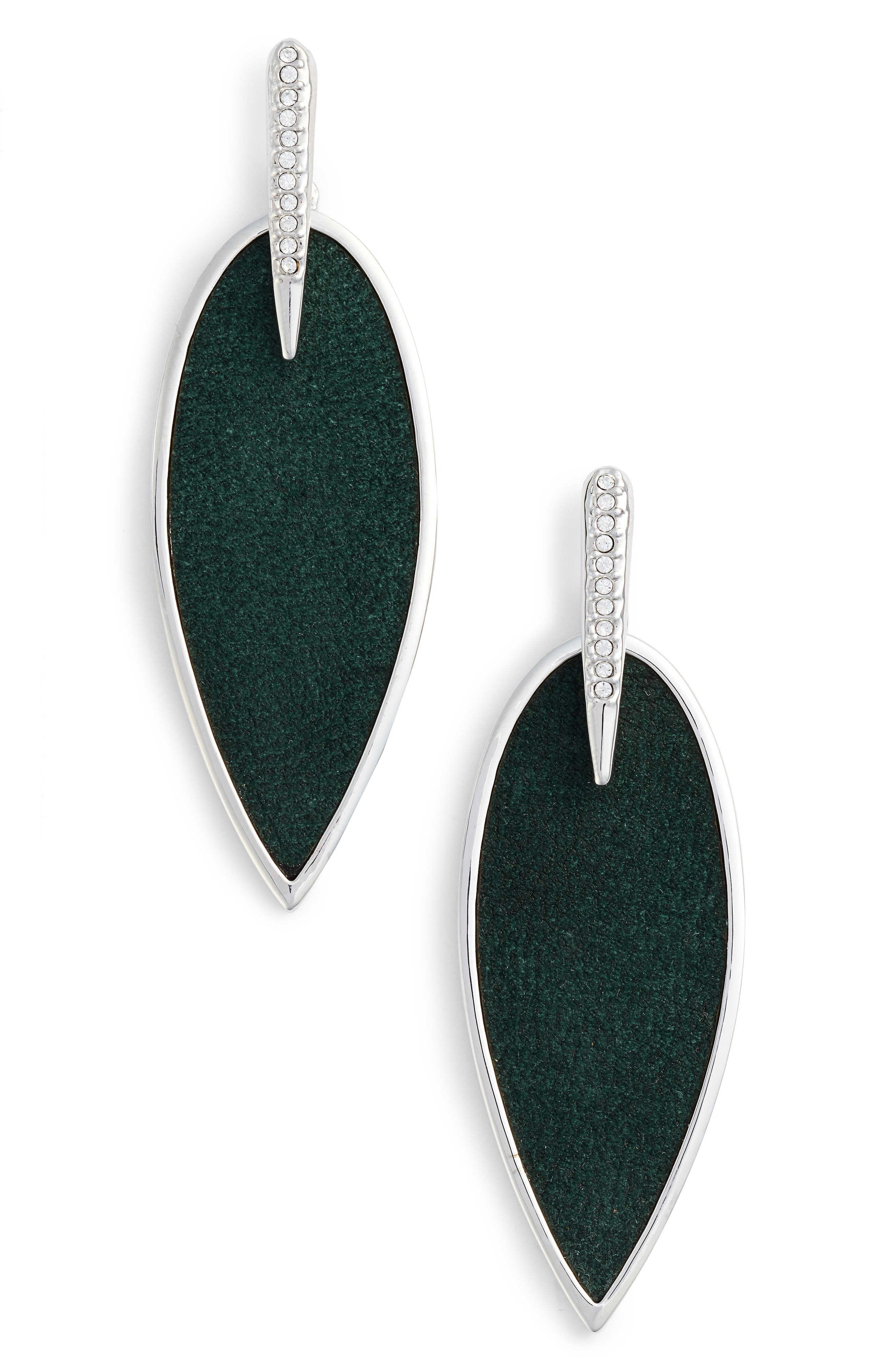 Inlaid Leather Statement Earrings,                             Main thumbnail 1, color,                             040