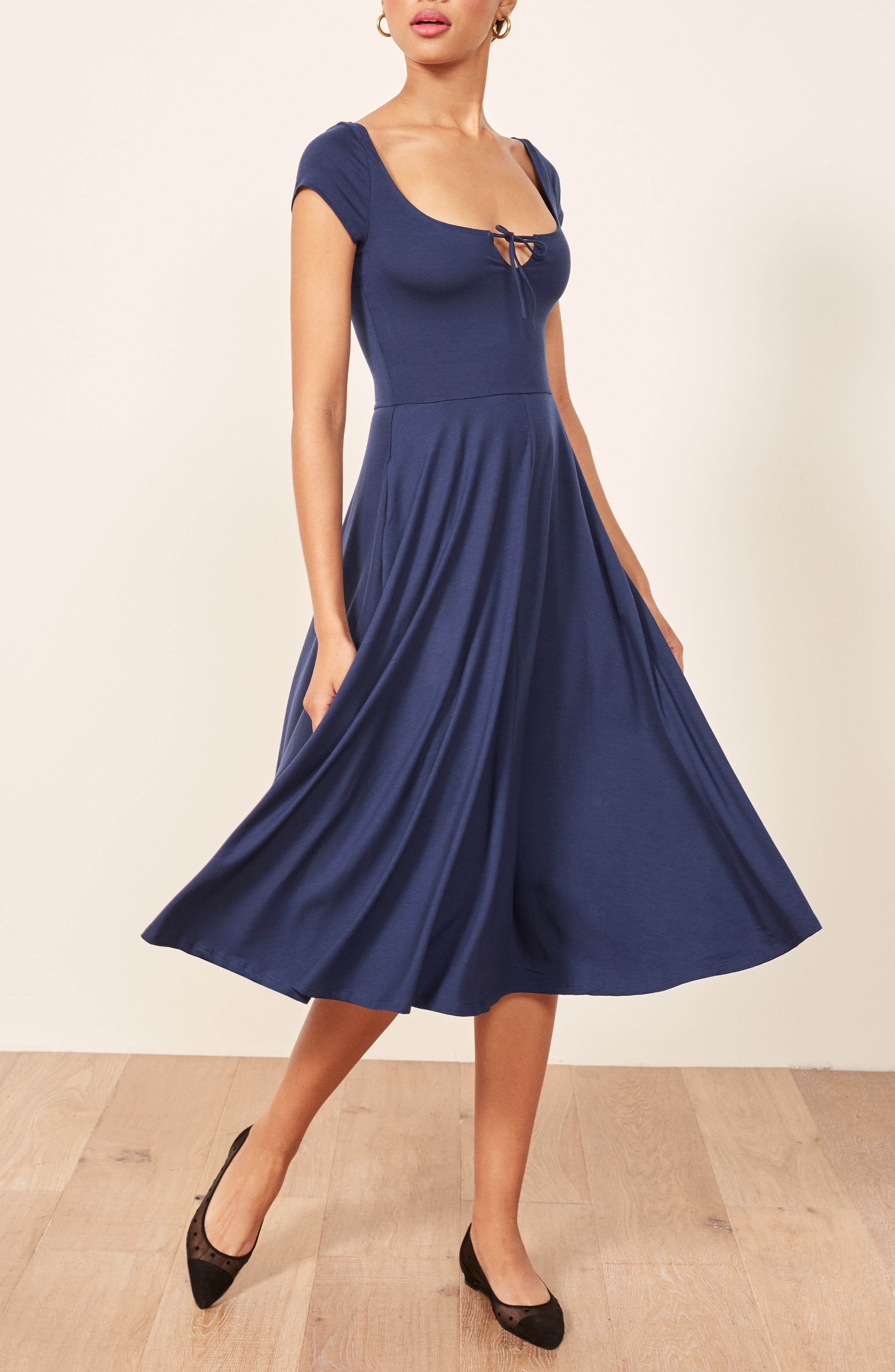 Krista Dress,                             Alternate thumbnail 3, color,                             NAVY