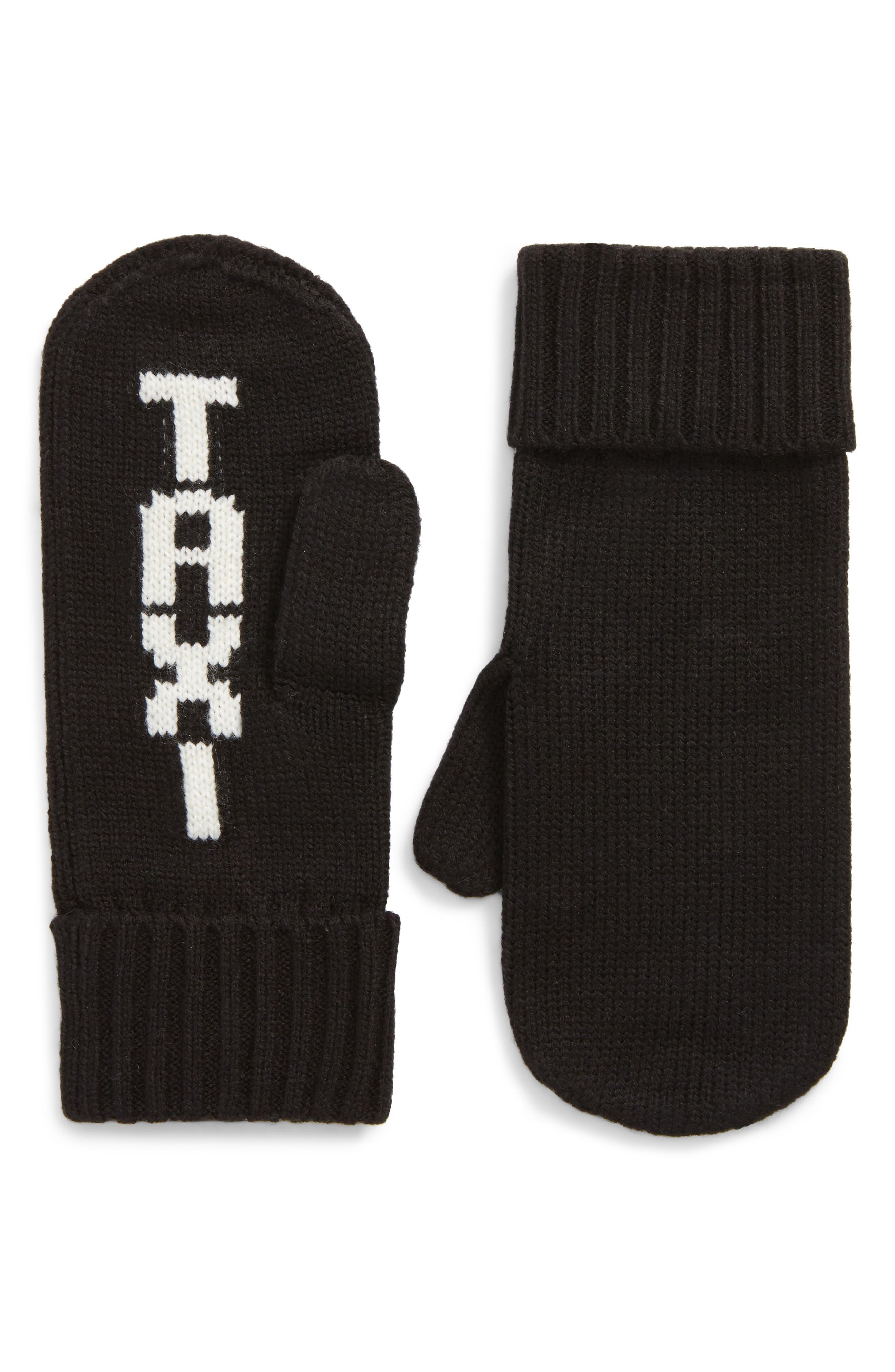 taxi mittens,                             Main thumbnail 1, color,                             BLACK/ CREAM