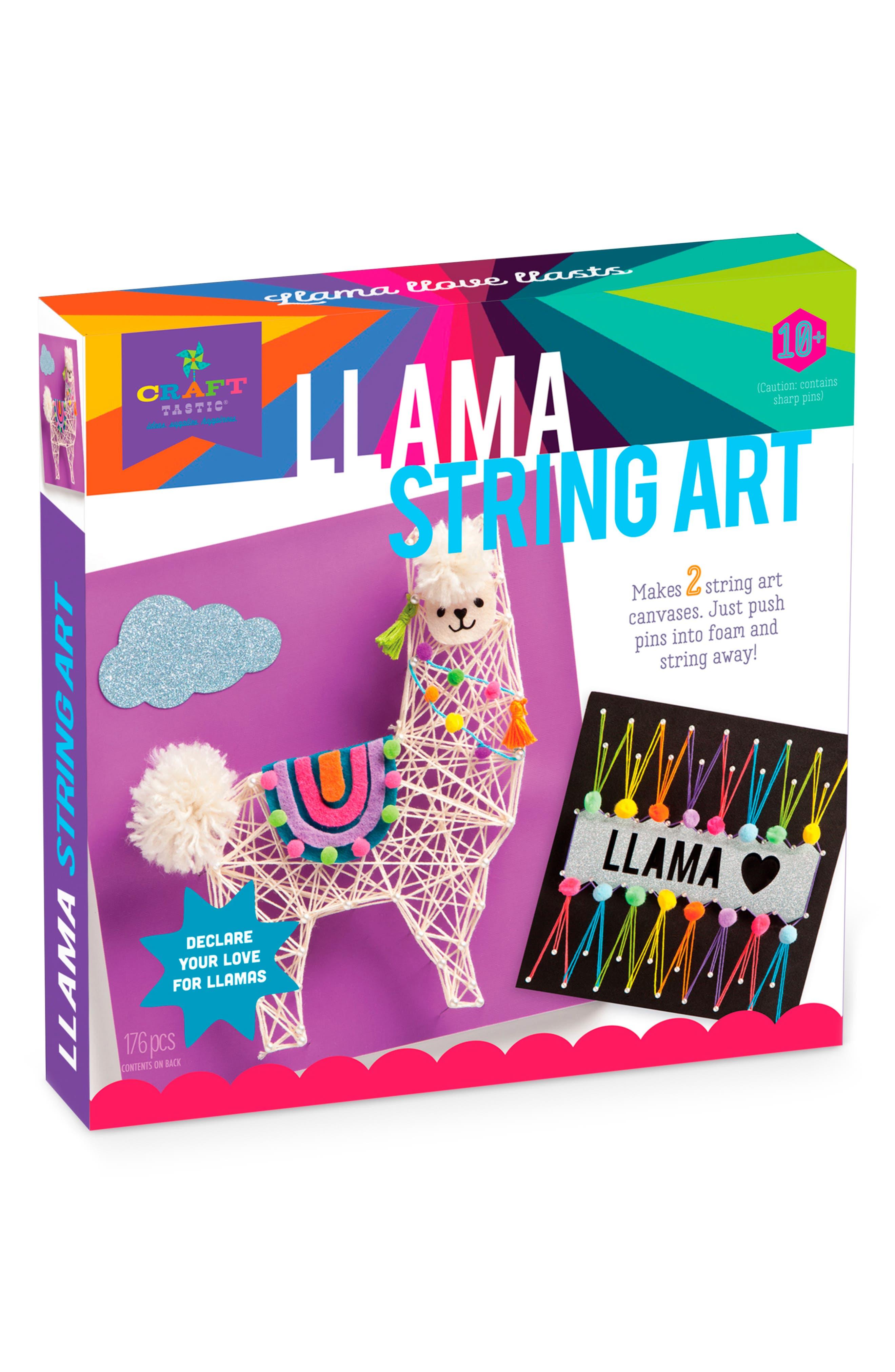 Llama String Art VII Crafting Kit,                             Main thumbnail 1, color,                             960