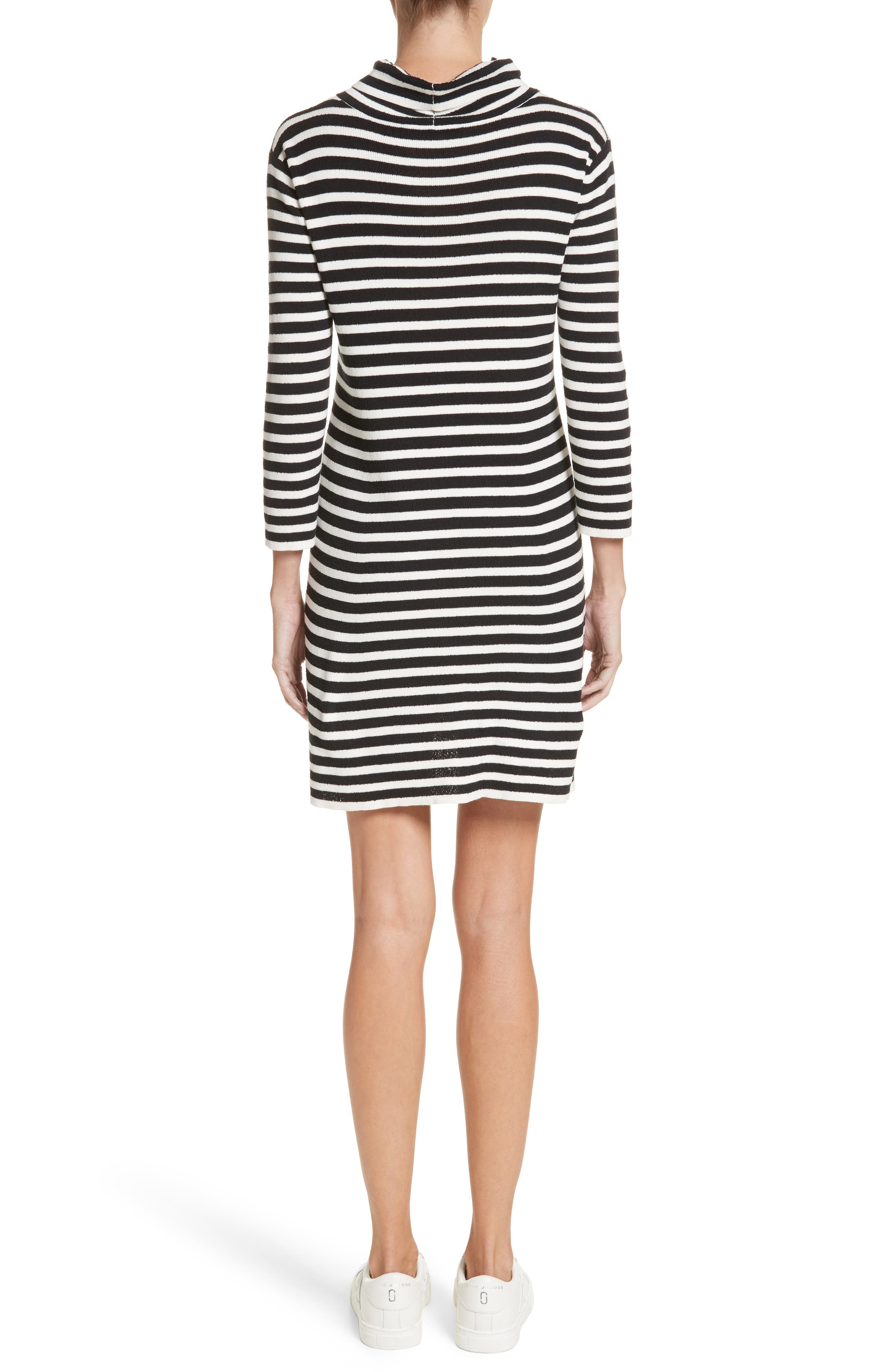 Stripe Cowl Neck Dress,                             Alternate thumbnail 2, color,