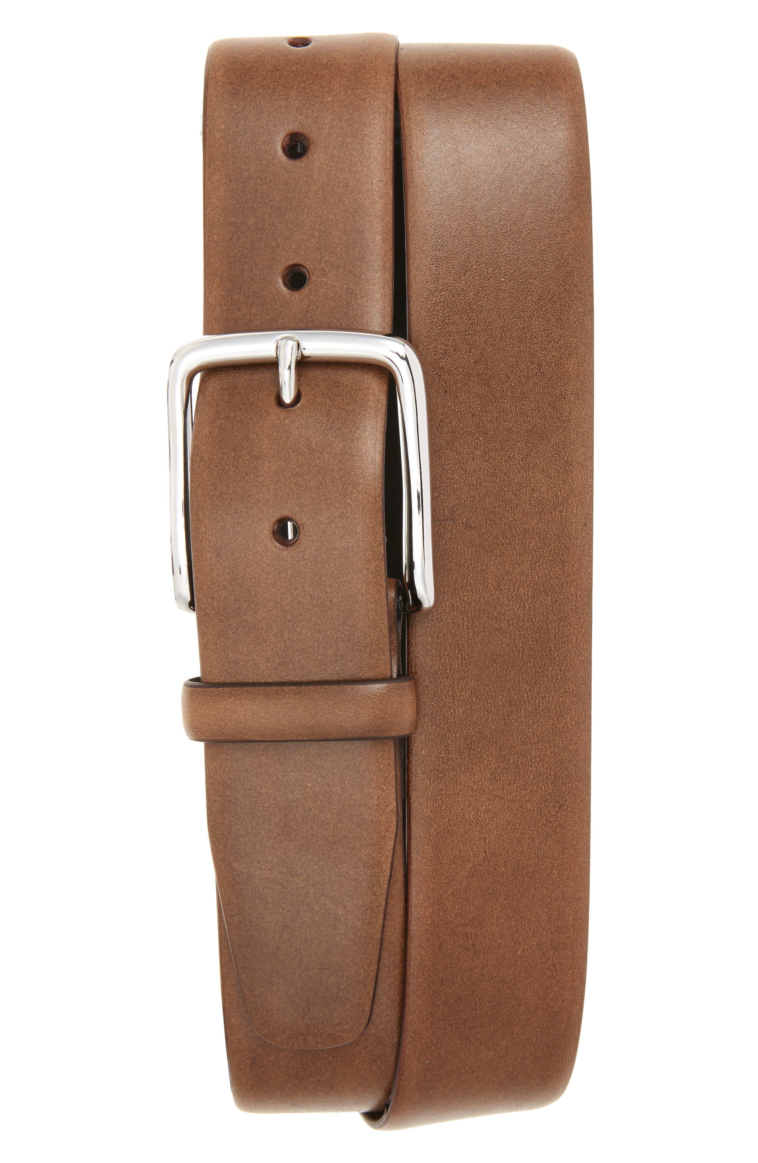 Lorenzo Leather Belt,                             Main thumbnail 1, color,                             210