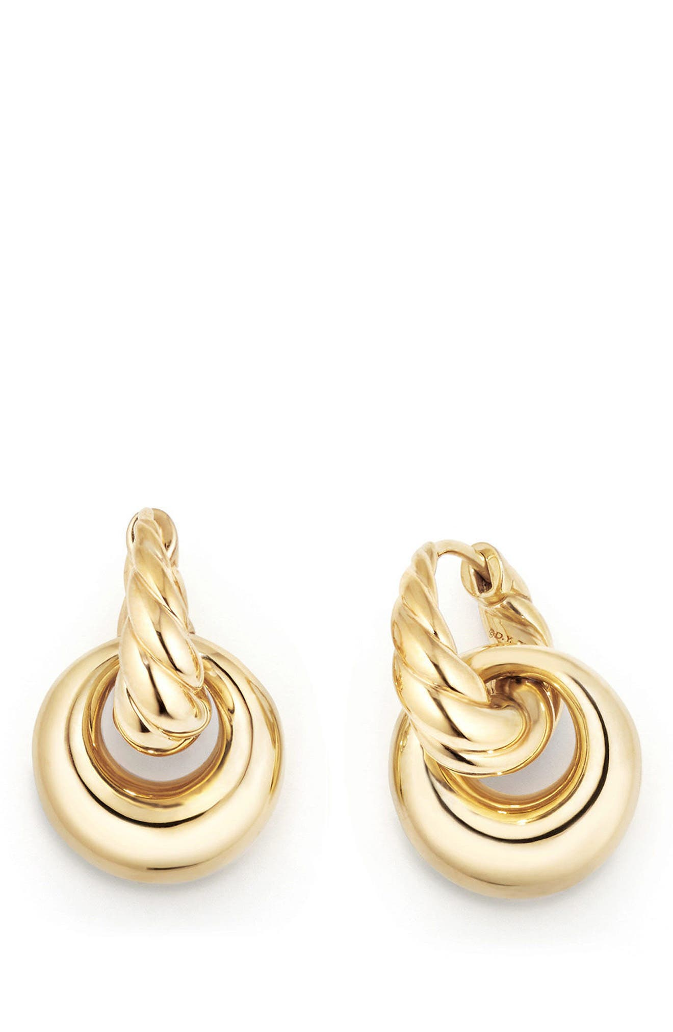 Pure Form<sup>®</sup> Drop Earrings in 18K Yellow Gold,                             Alternate thumbnail 2, color,                             YELLOW GOLD