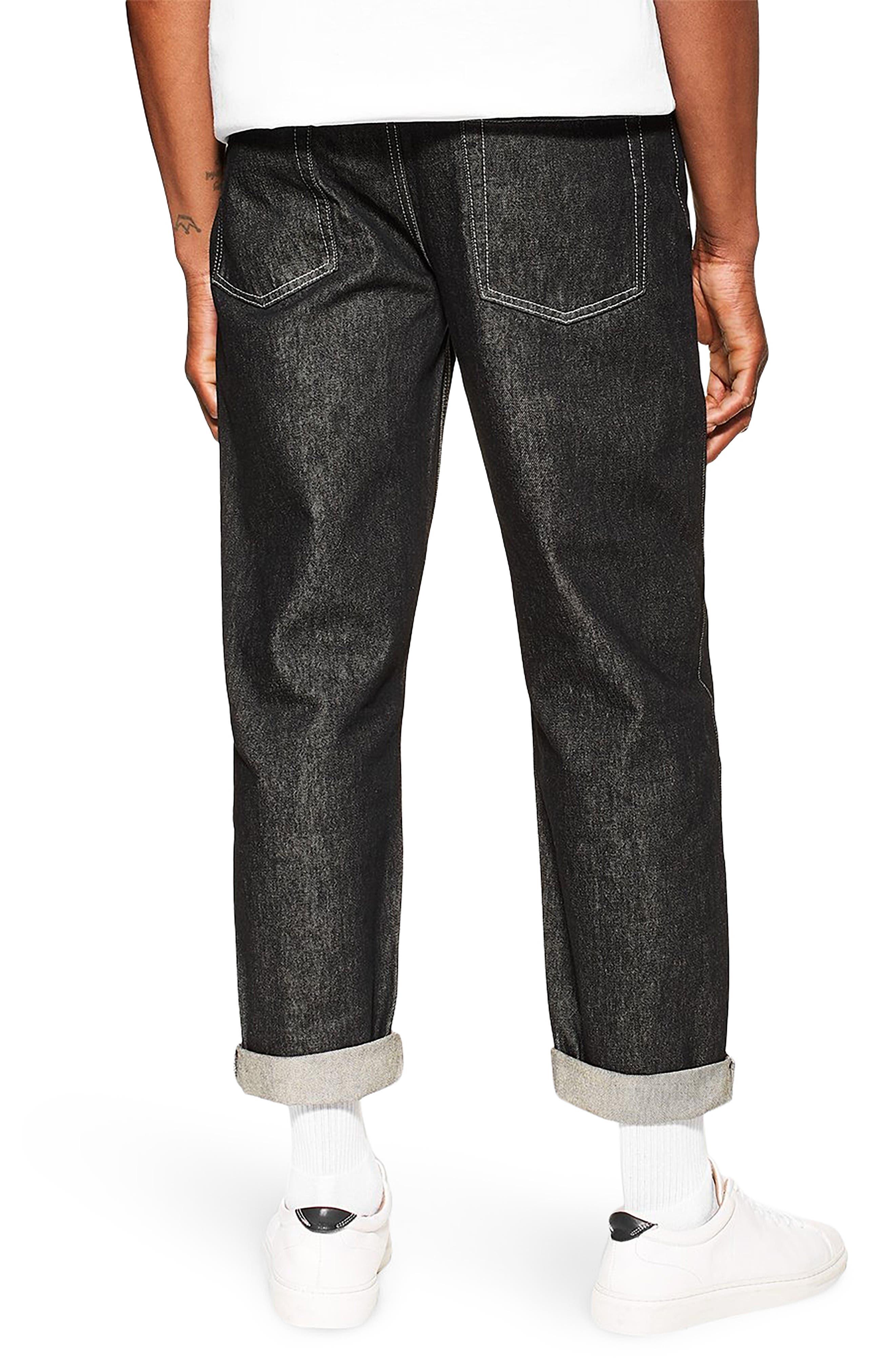TOPMAN,                             Original Fit Jeans,                             Alternate thumbnail 2, color,                             BLACK