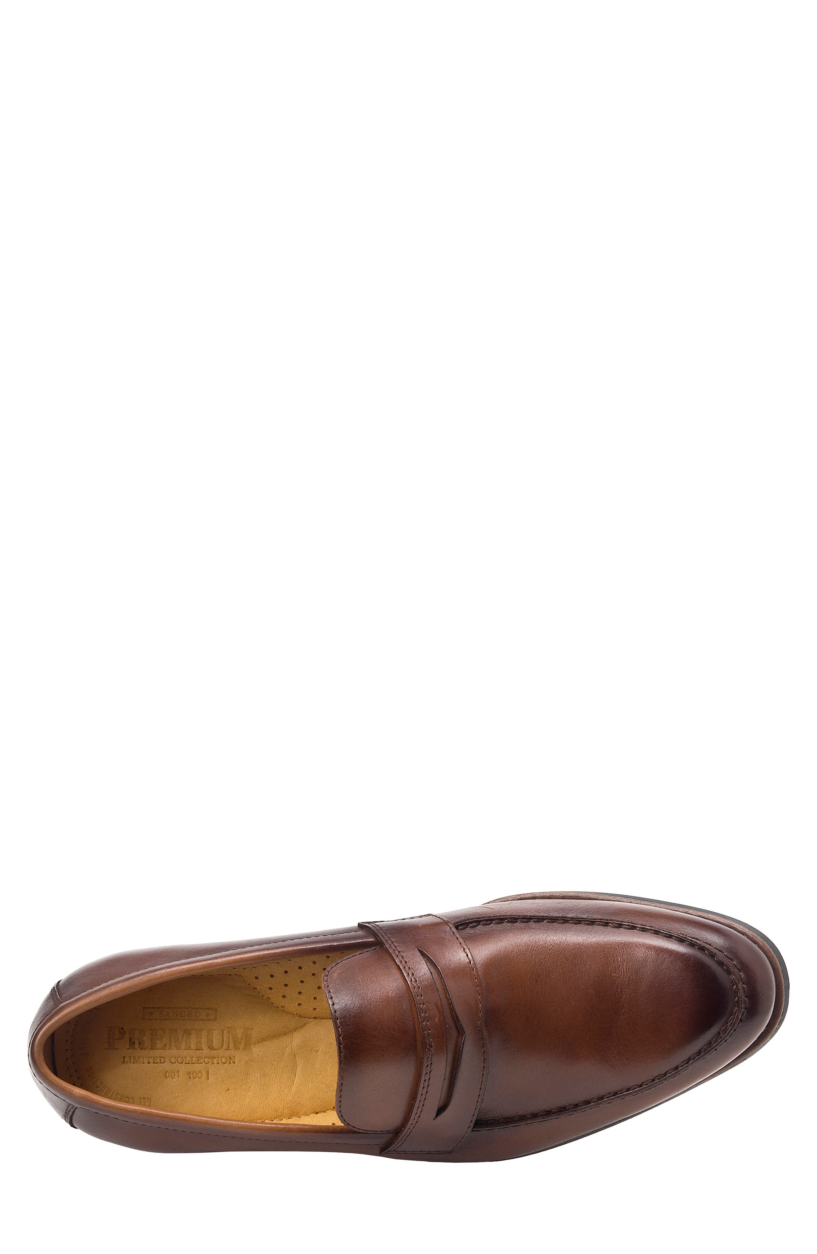 Mundo Penny Loafer,                             Alternate thumbnail 5, color,                             BROWN LEATHER